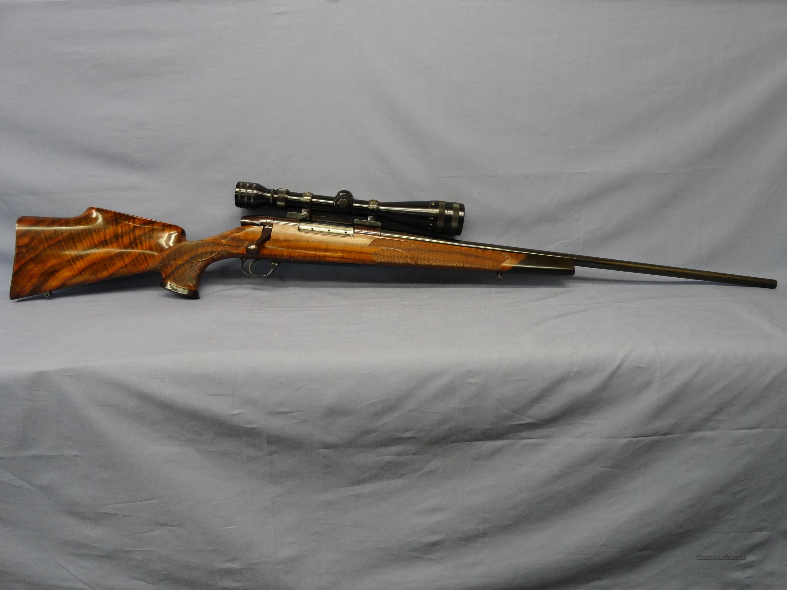 Weatherby Custom .257 with Redfield 4x-12x RangeFinder Scope - Ammunition and Die-Set included!  Guns > Rifles > Weatherby Rifles > Sporting