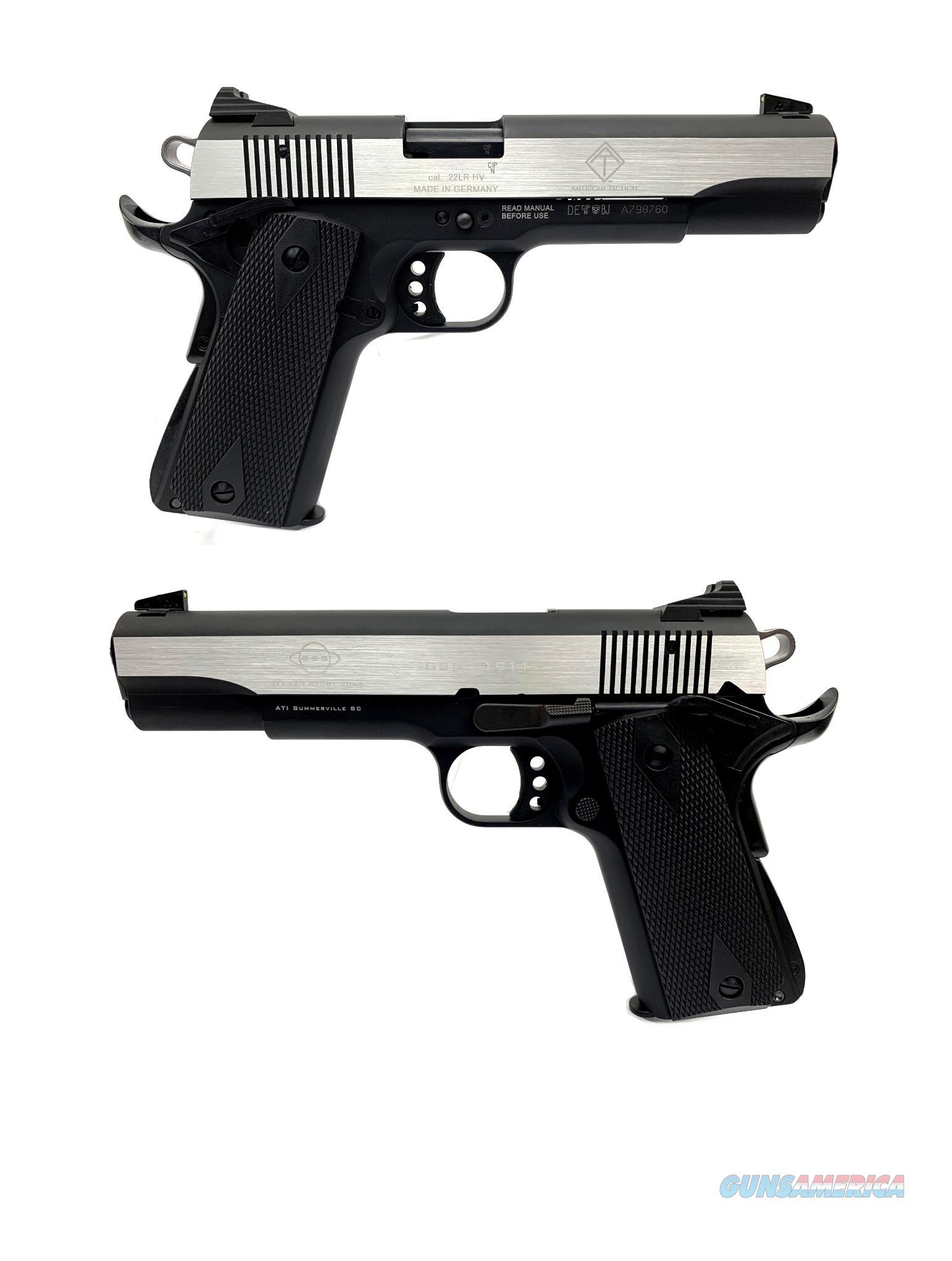 GSG M1911 Two-Tone .22LR Semi-Automatic Pistol  Guns > Pistols > American Tactical Imports Pistols