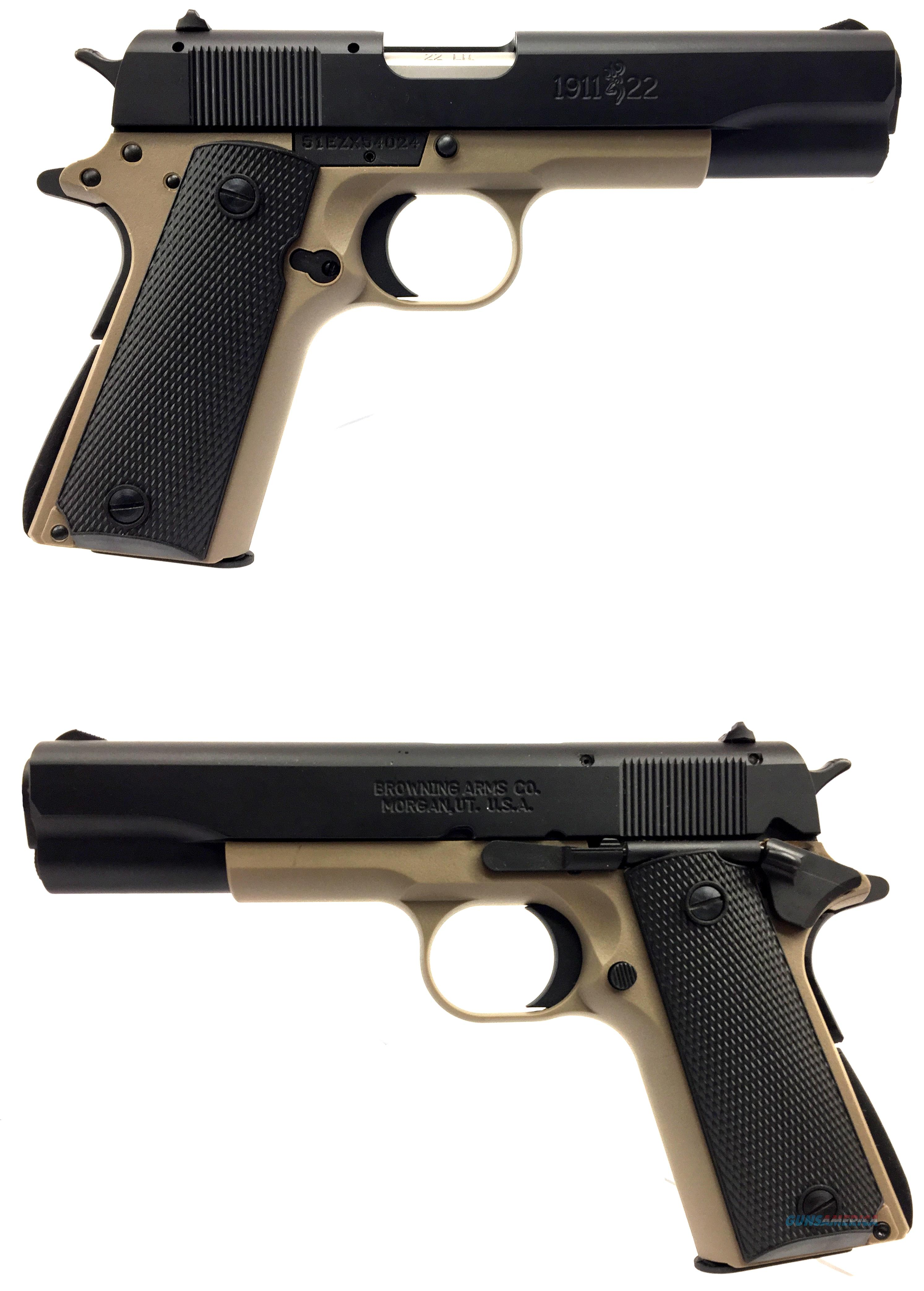 Browning Desert Tan 1911-.22lr  Guns > Pistols > Browning Pistols > Other Autos