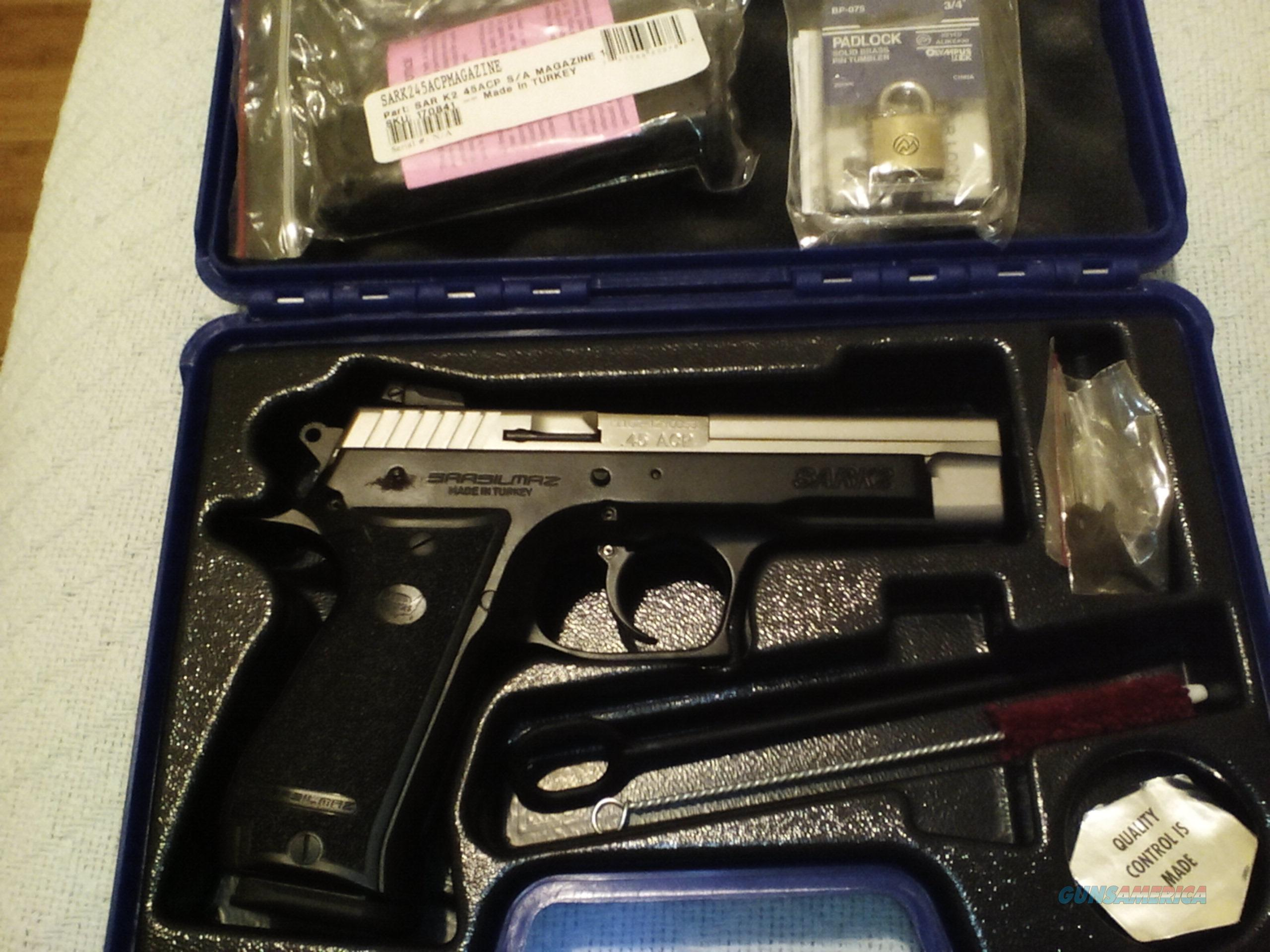 SAR K2 45acp with extra new mag  Guns > Pistols > EAA Pistols > Other