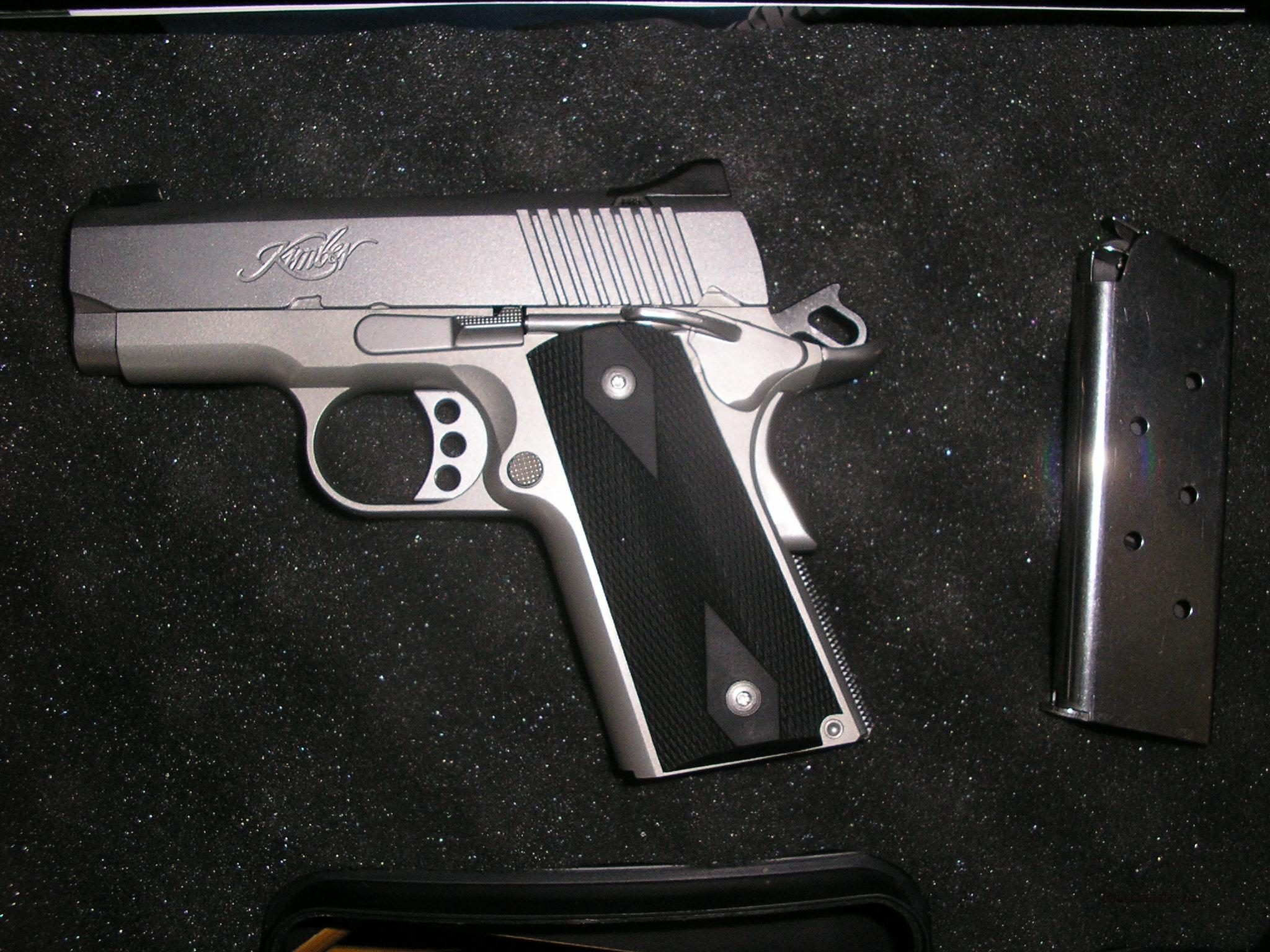 Kimber 1911 Ultra Carry 2, SS, 45acp, night sights-BARELY USED!!  Guns > Pistols > 1911 Pistol Copies (non-Colt)