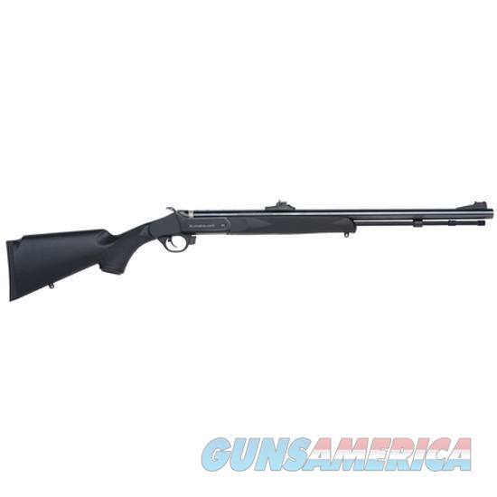 "NIB Traditions Buckstalker Black Powder Rifle .50 Caliber 24"" Barrel Blued Black Synthetic Stock Adjustable Fiber Optic Sights  Non-Guns > Black Powder Muzzleloading"