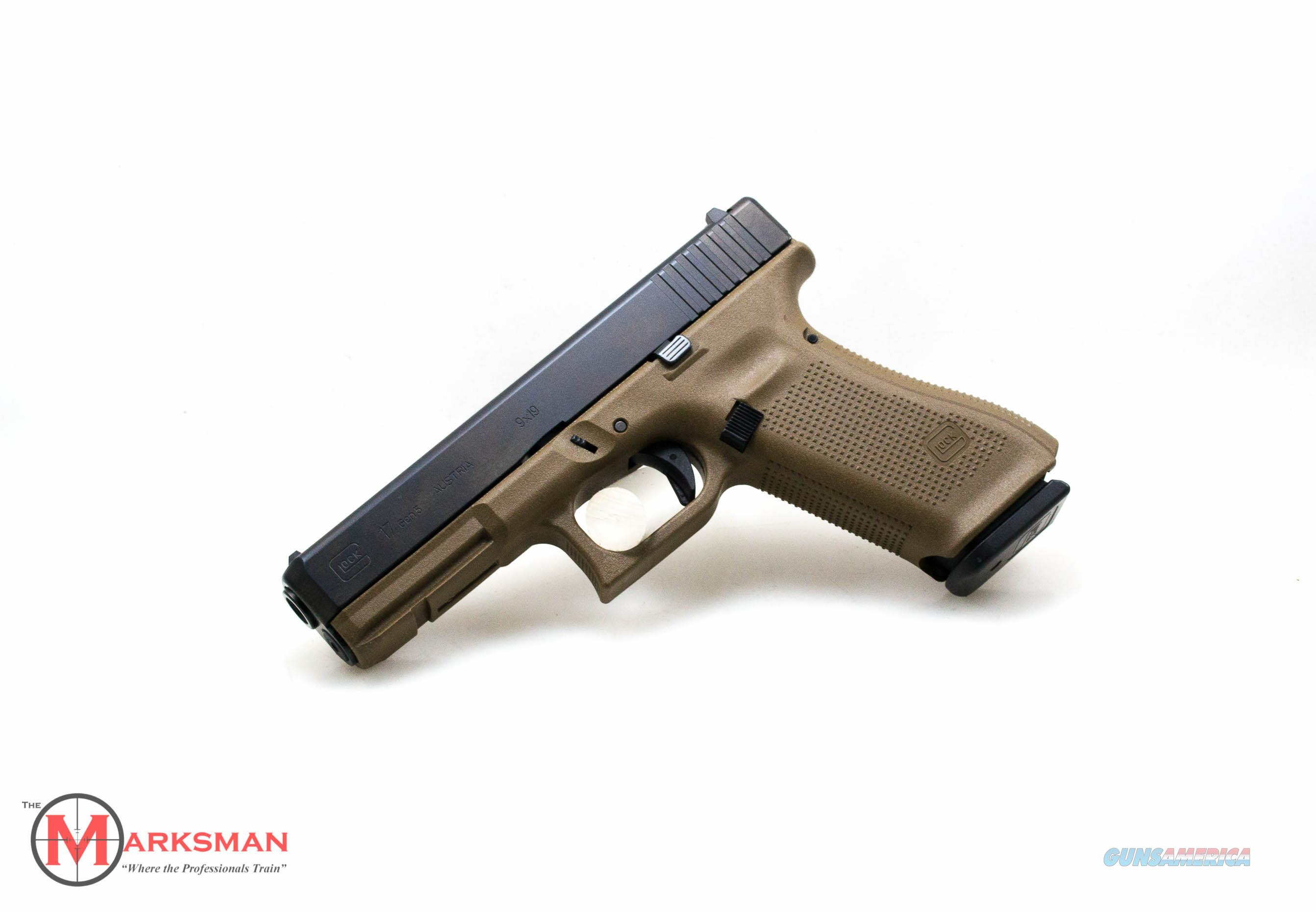 Glock 17 Generation 5, 9mm, Flat Dark Earth NEW PA1750203DE  Guns > Pistols > Glock Pistols > 17