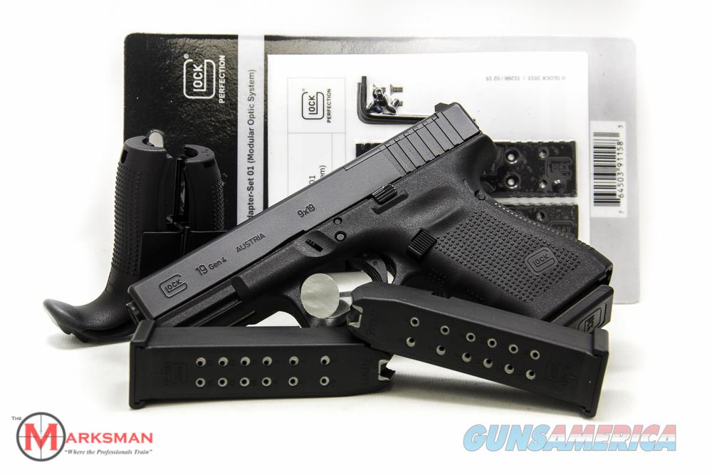 Glock 19 Generation 4 MOS 9mm NEW  Guns > Pistols > Glock Pistols > 19