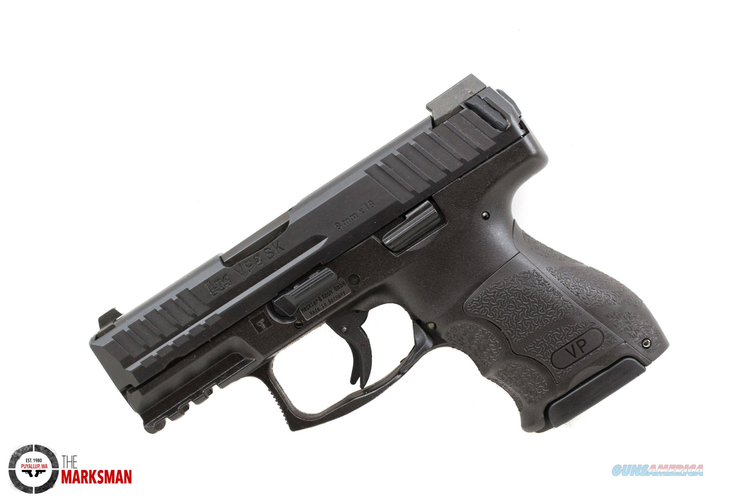 Heckler and Koch VP9SK, 9mm, Night Sights   Guns > Pistols > Heckler & Koch Pistols > SteelFrame