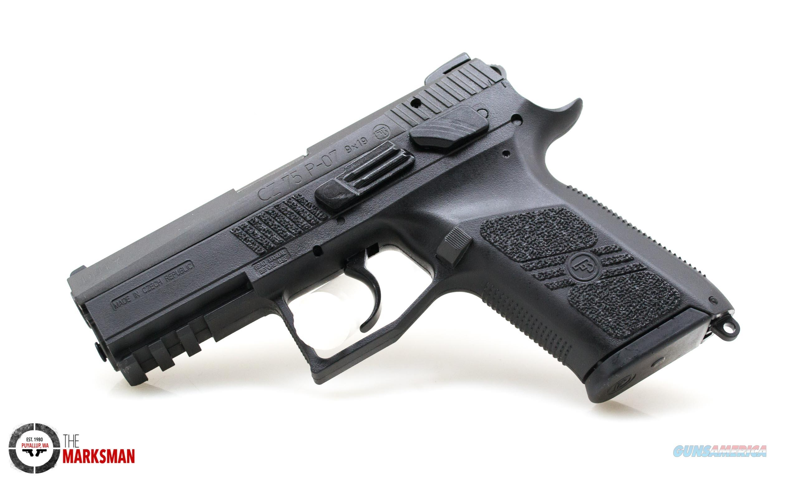 CZ P-07 Duty, 9mm NEW SDN Mexico Stamping  Guns > Pistols > CZ Pistols