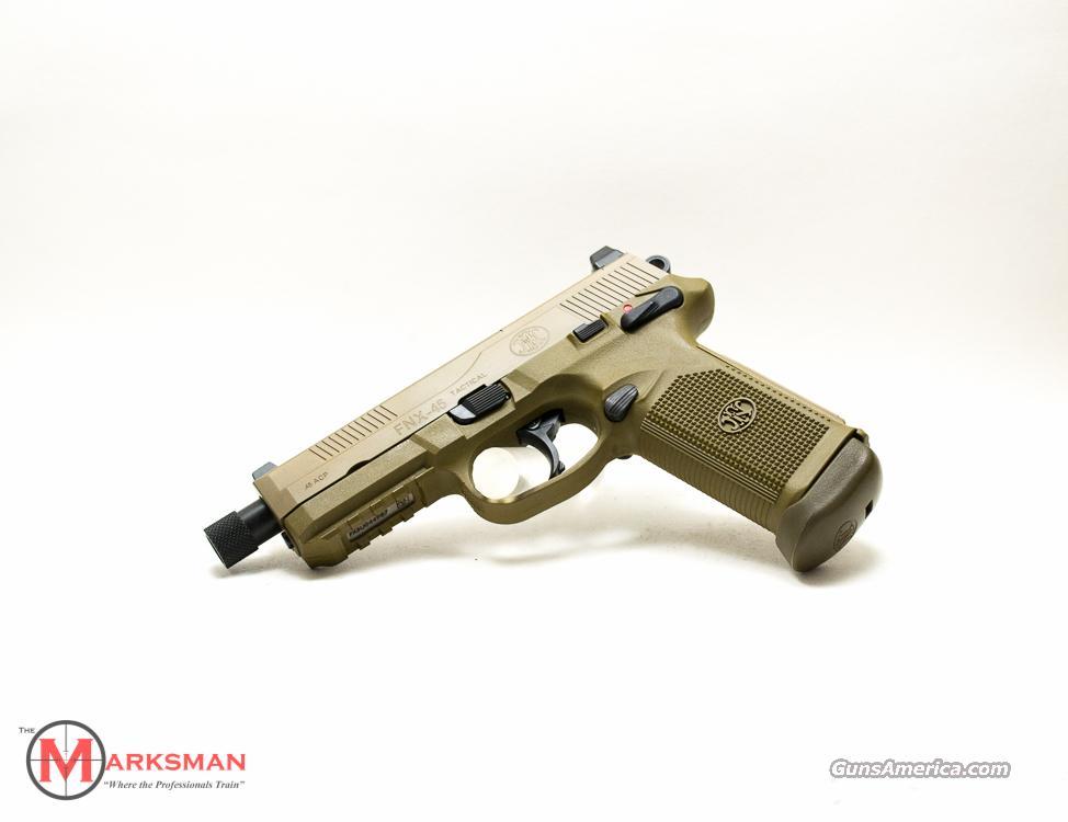 FN Flat Dark Earth FNX Tactical .45 ACP NEW 66968  Guns > Pistols > FNH - Fabrique Nationale (FN) Pistols > FNP