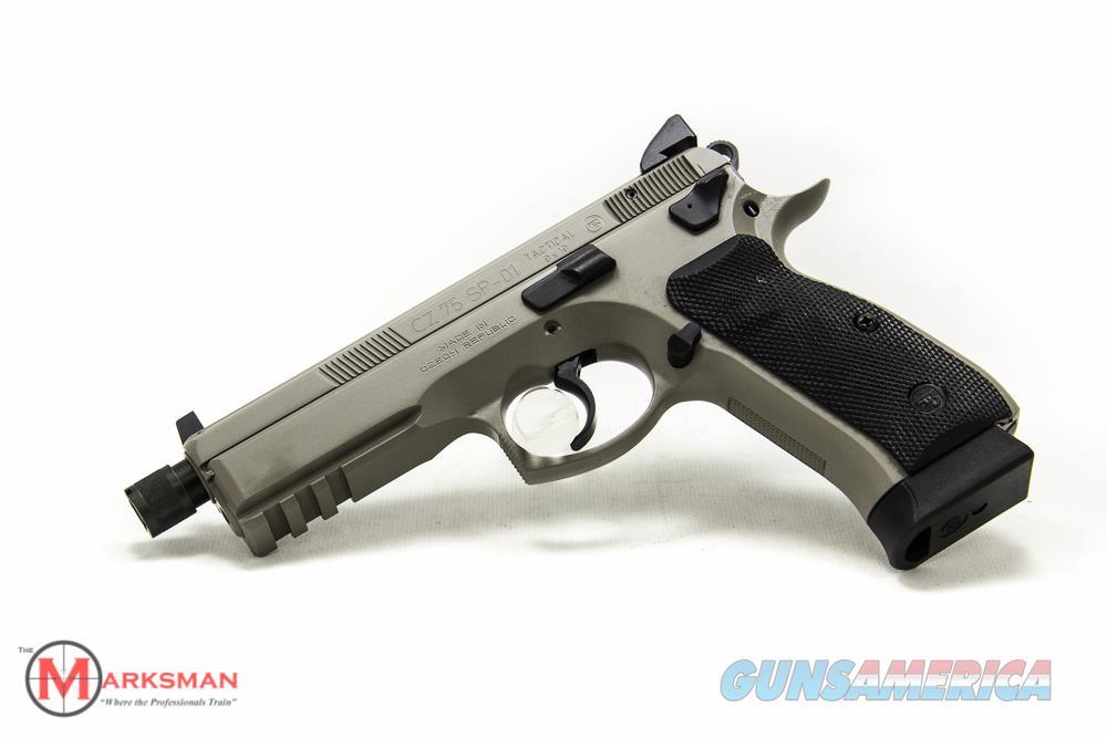 CZ 75 SP-01 Tactical Suppressor Ready 9mm New Urban Grey  Guns > Pistols > CZ Pistols