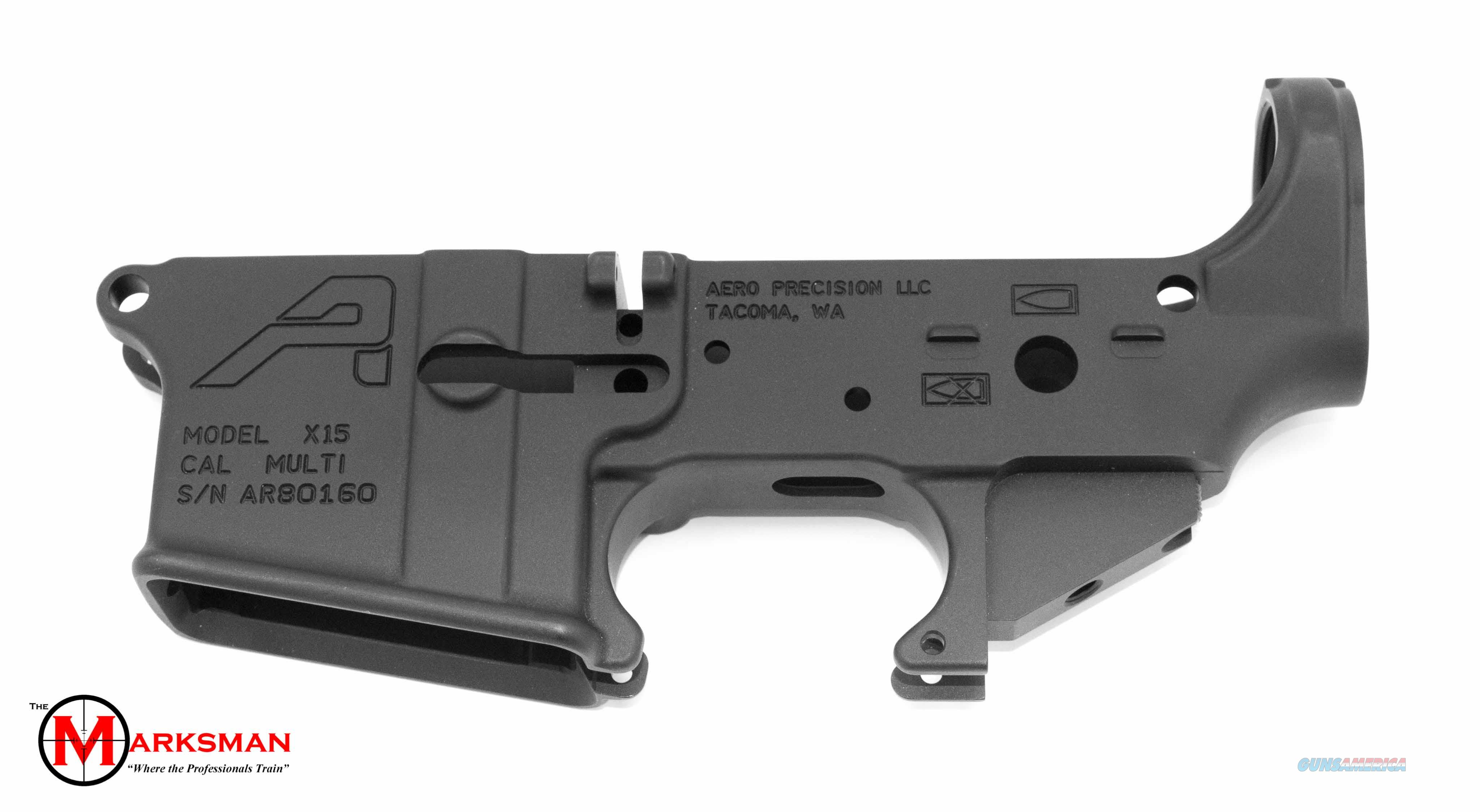 Aero Precision AR-15 Stripped Lower Receiver, Generation 2, Anodized Black   Guns > Rifles > AR-15 Rifles - Small Manufacturers > Lower Only