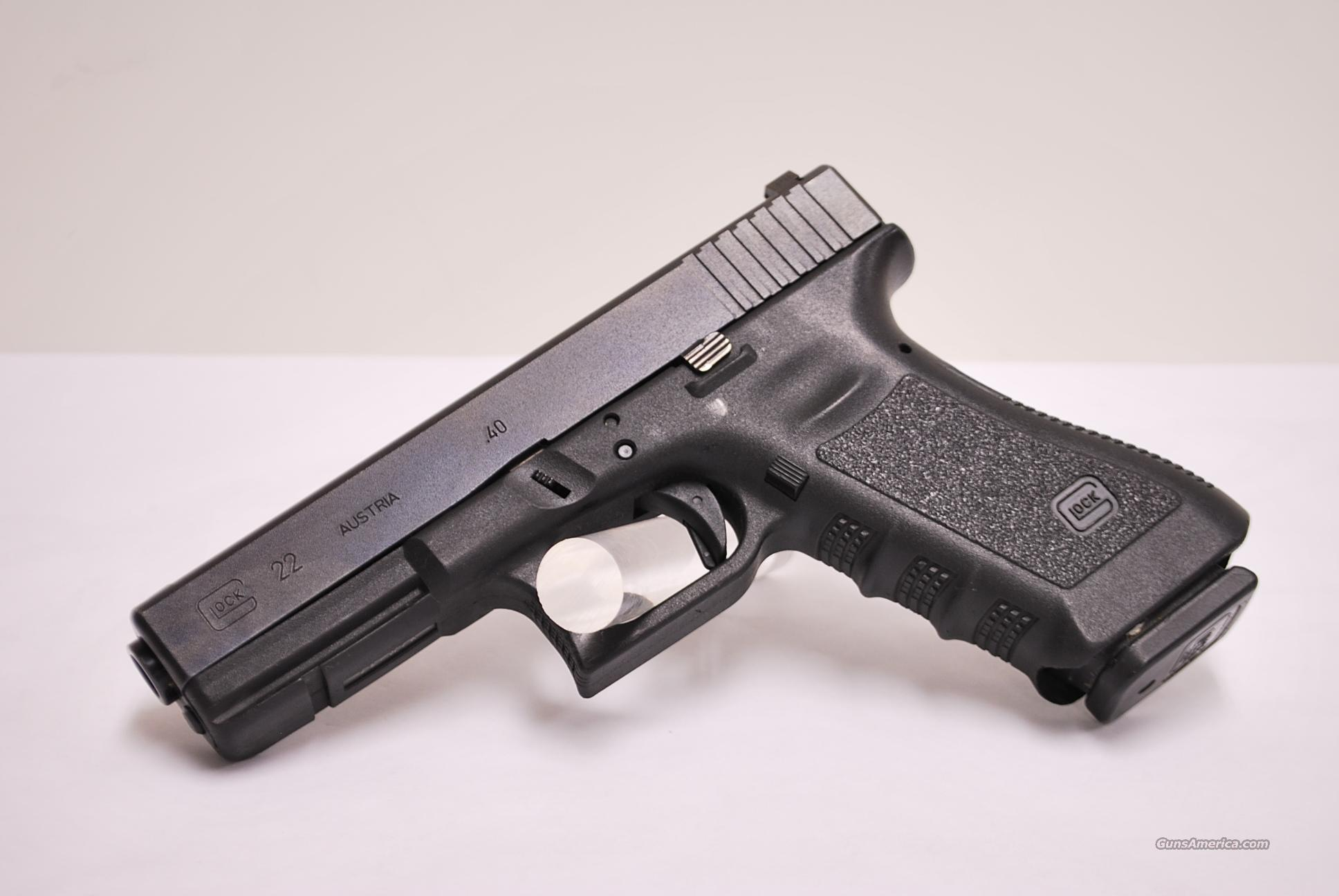 Glock 22 Gen 3 .40 SW Used Night Sights  Guns > Pistols > Glock Pistols > 22