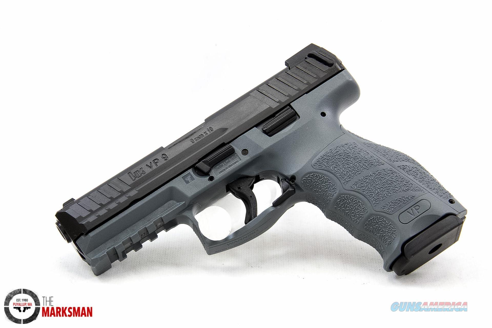 Heckler and Koch VP9, 9mm, Grey, Night Sights  Guns > Pistols > Heckler & Koch Pistols > Polymer Frame