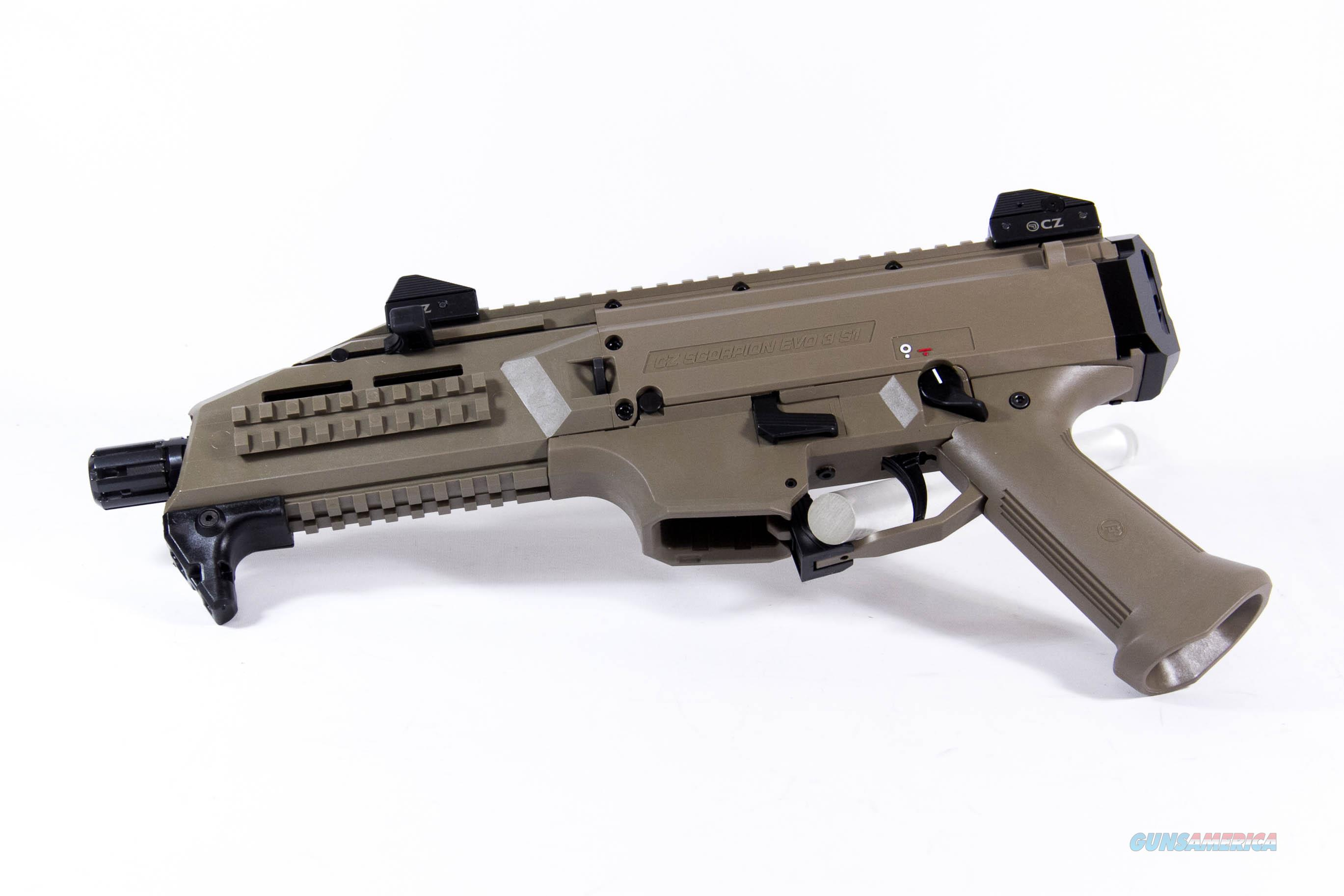 CZ Scorpion Evo 3 S1 Pistol, 9mm, Flat Dark Earth  Guns > Pistols > CZ Pistols