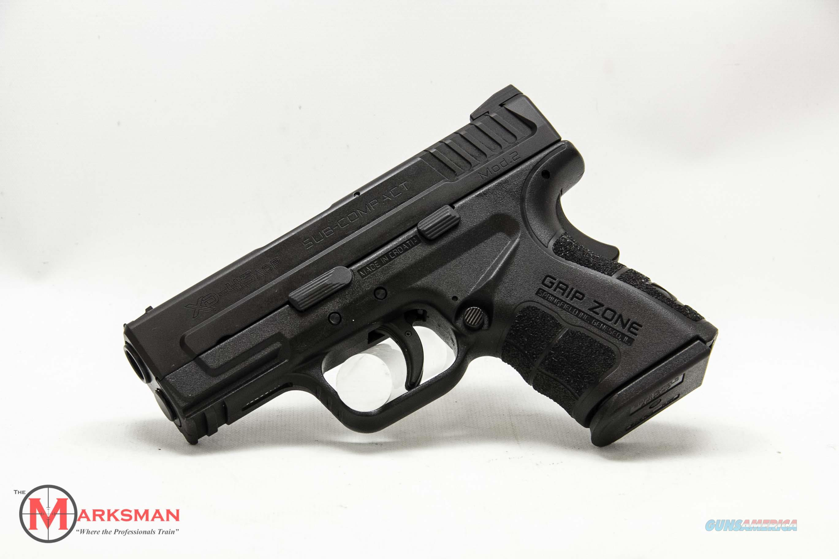 Springfield XD Subcompact Mod 2 .45 ACP NEW Essentials Package  Guns > Pistols > Springfield Armory Pistols > XD (eXtreme Duty)