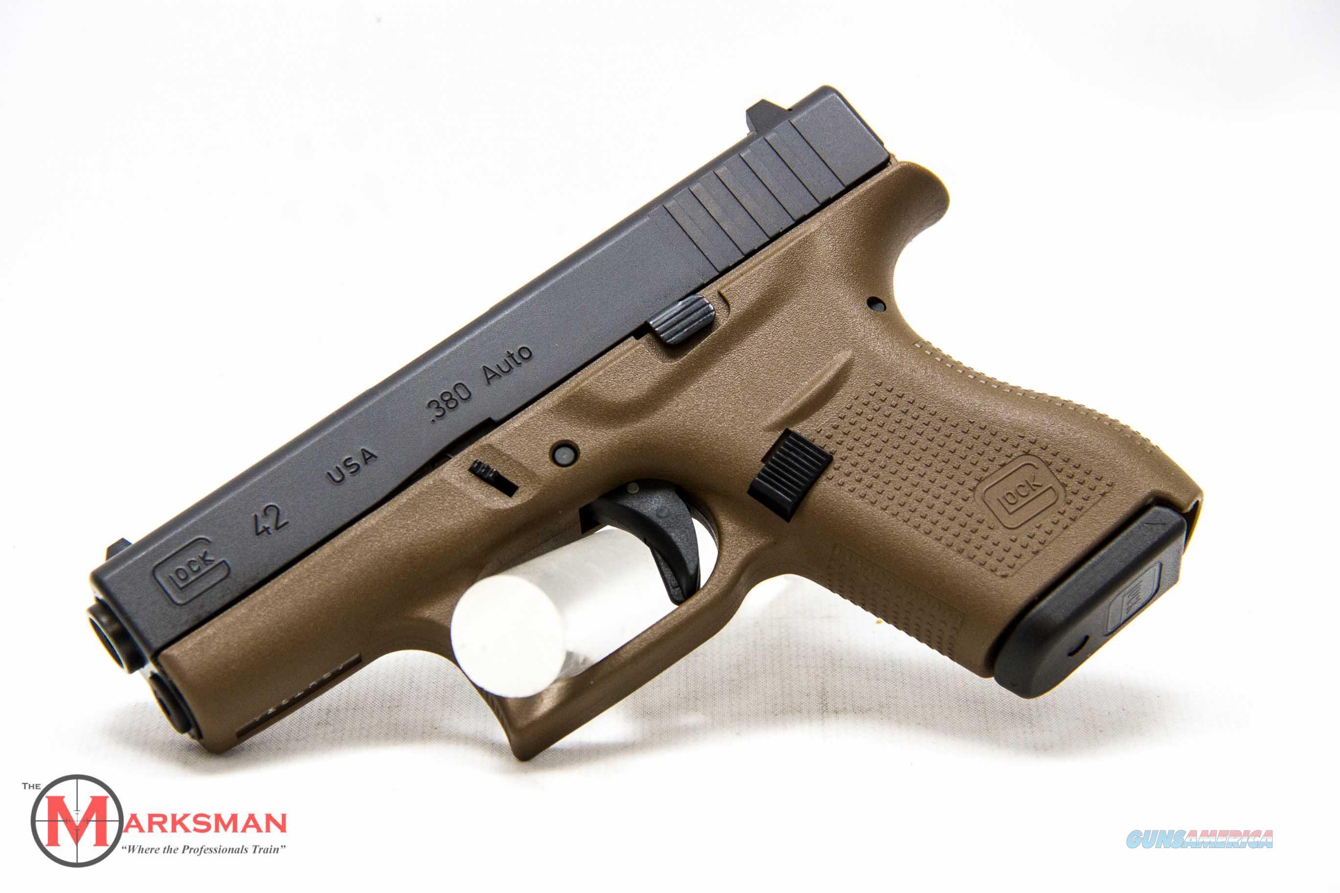 Glock 42 .380 ACP Flat Dark Earth NEW Lipsey's Exclusive  Guns > Pistols > Glock Pistols > 42