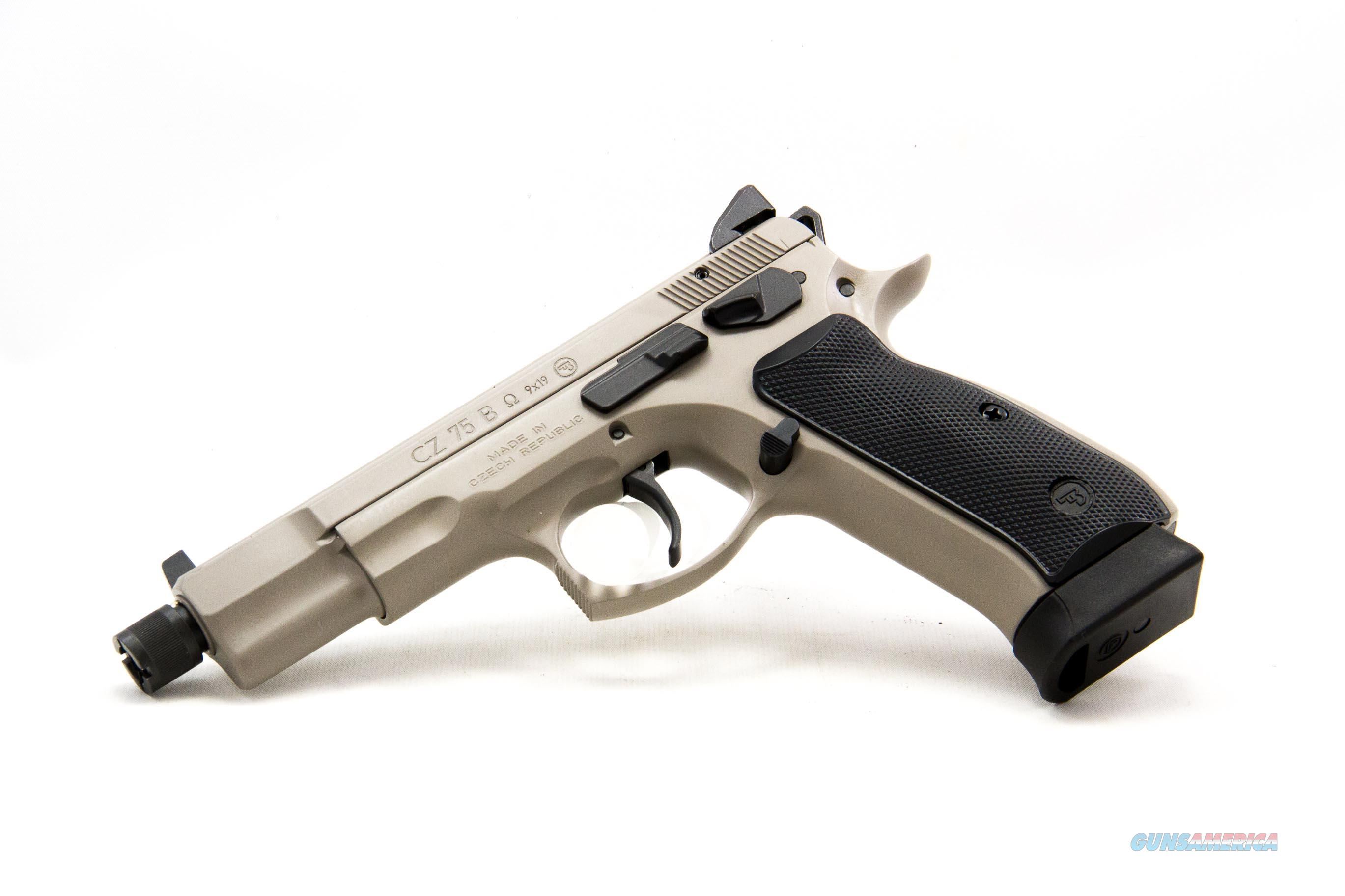 CZ 75 B Omega Suppressor Ready 9mm NEW Urban Grey  Guns > Pistols > CZ Pistols