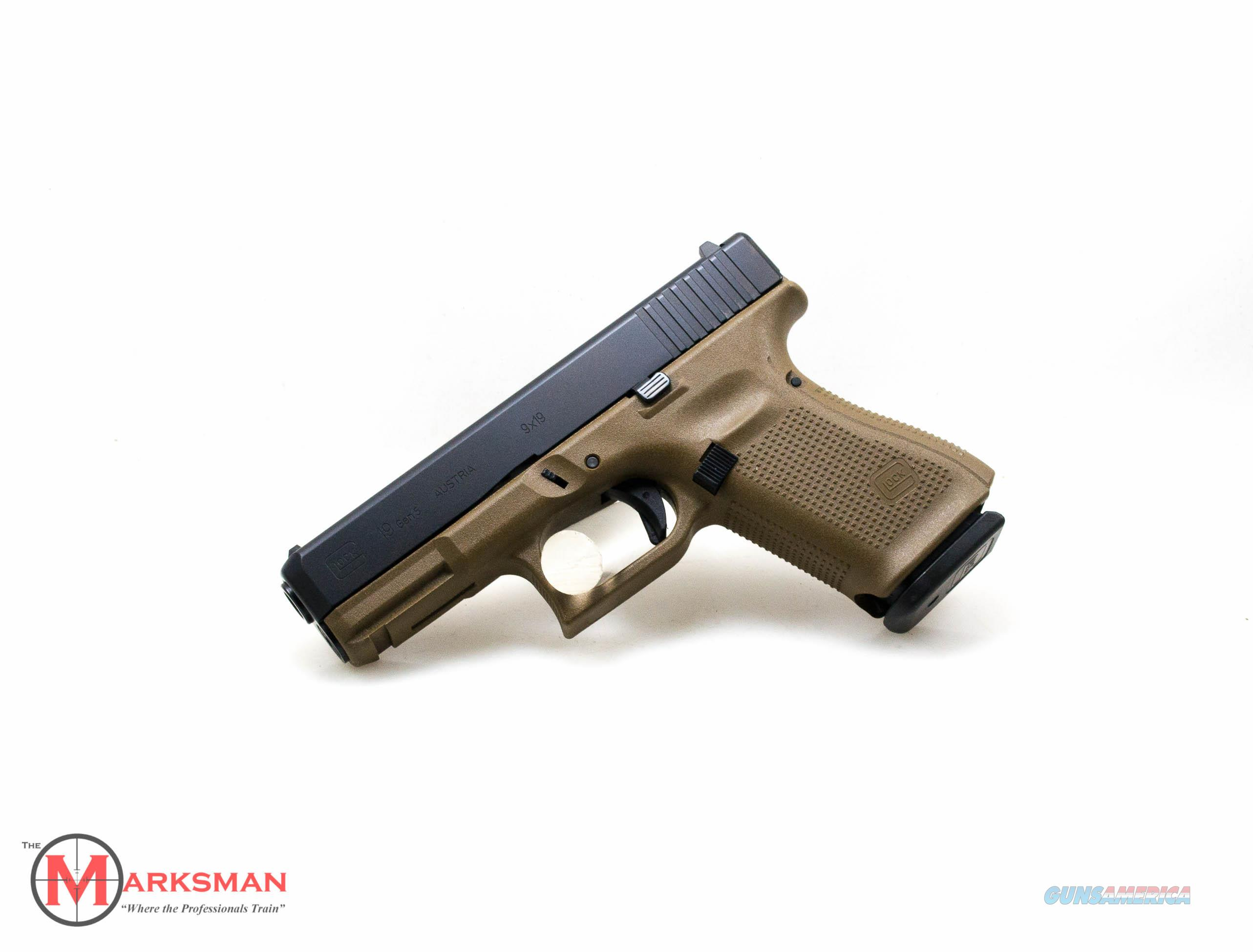 Glock 19 Generation 5, 9mm, Flat Dark Earth NEW PA1950203DE  Guns > Pistols > Glock Pistols > 19/19X