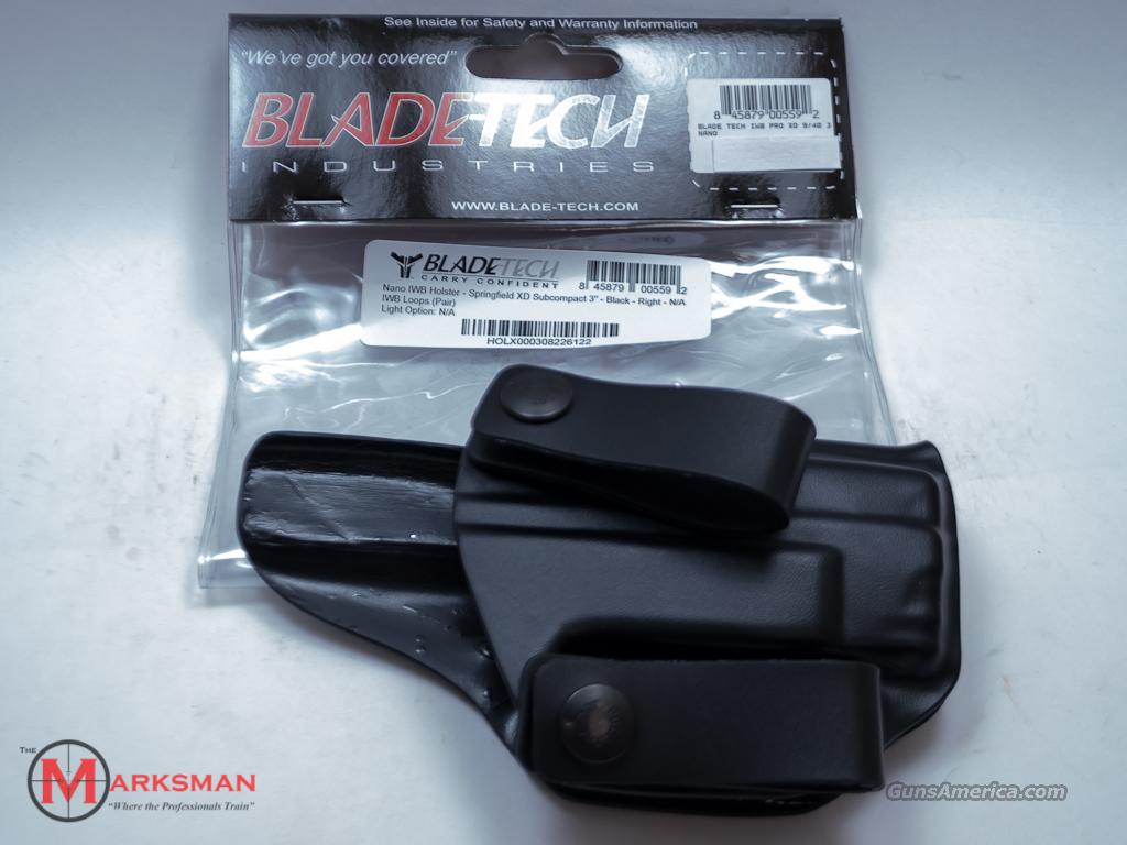 Blade-Tech Inside the Waist Holster Springfield XD 9 40 NEW  Non-Guns > Holsters and Gunleather > Concealed Carry