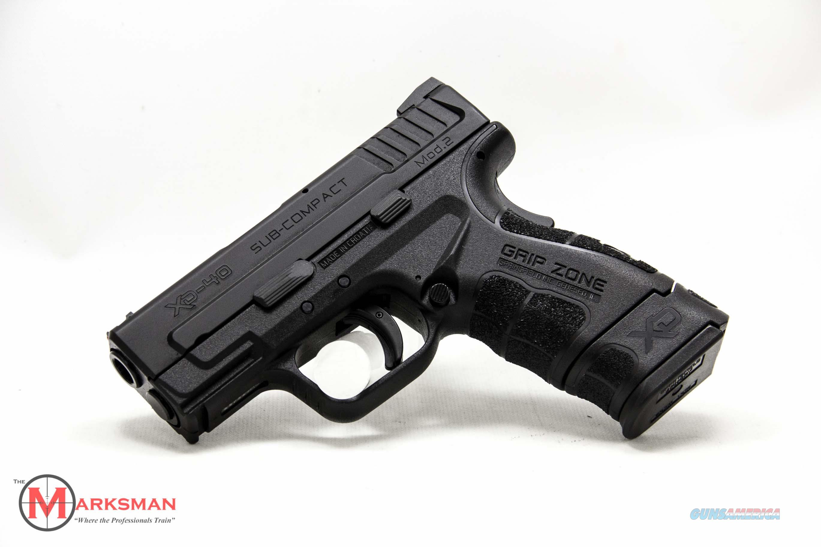 Springfield XD Subcompact Mod 2 .40 S&W NEW  Guns > Pistols > Springfield Armory Pistols > XD (eXtreme Duty)