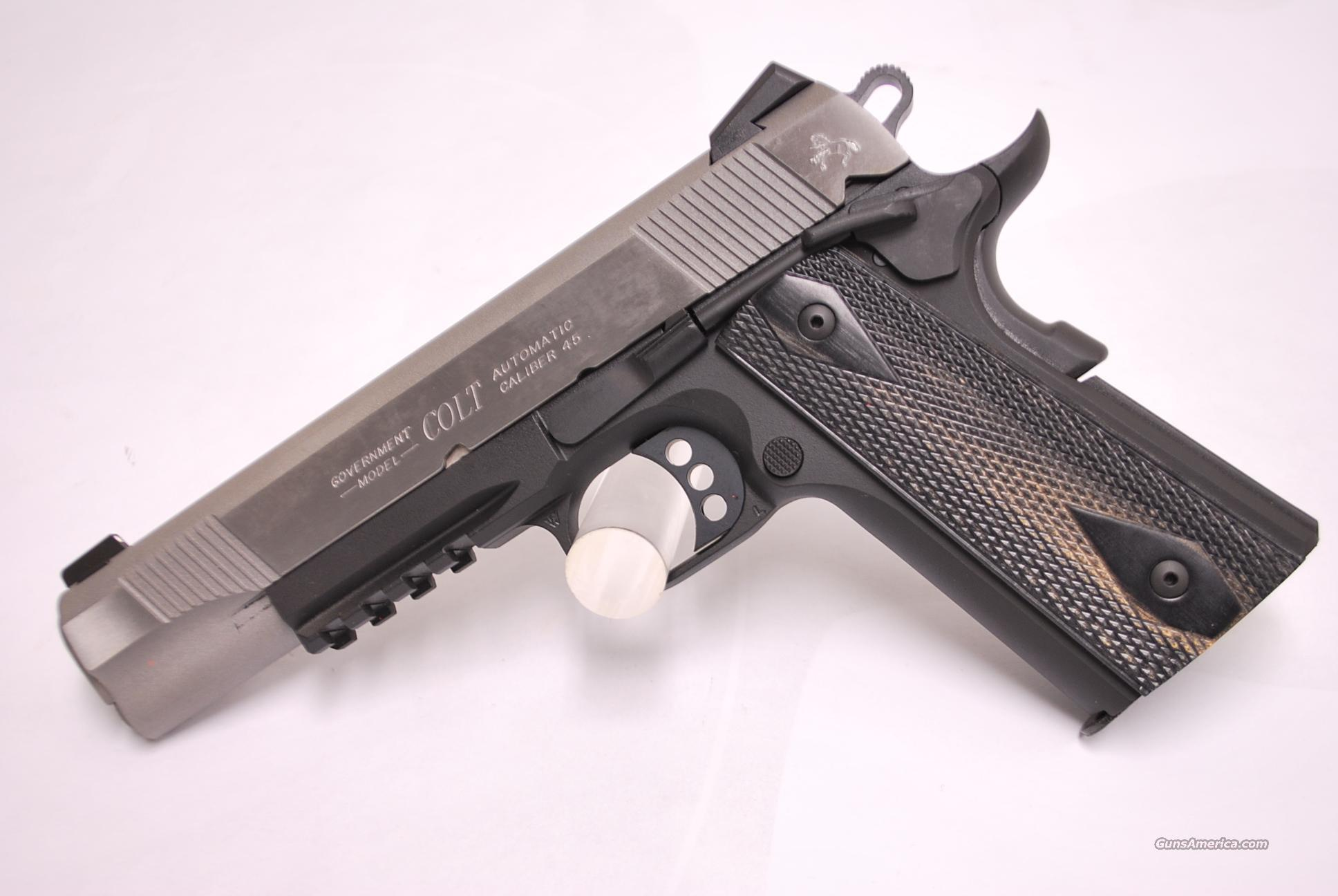 Colt Rail Gun GOvernment model, 45 acp   Guns > Pistols > Colt Automatic Pistols (1911 & Var)