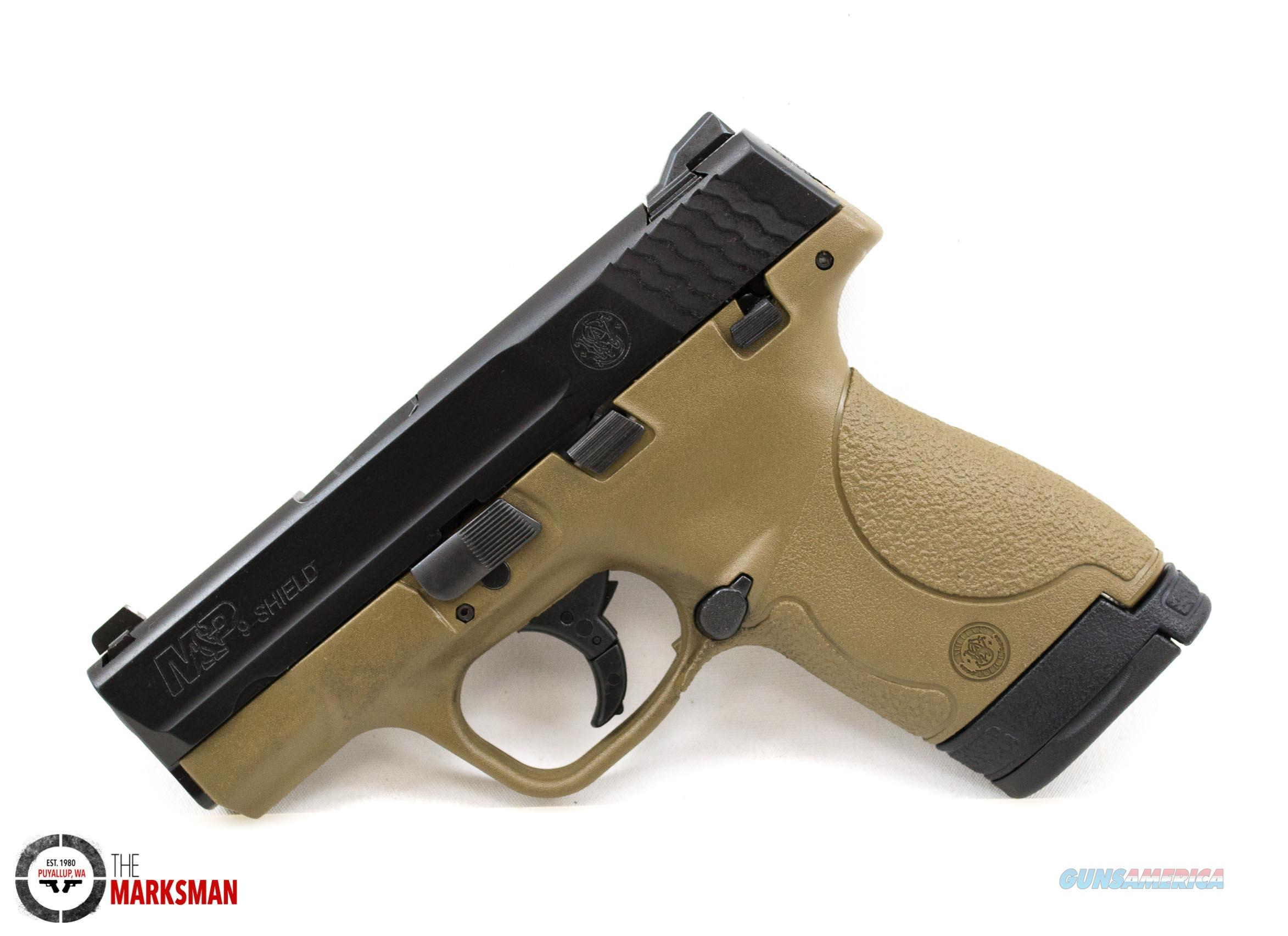 Smith and Wesson M&P Shield, 9mm, Flat Dark Earth, Thumb Safety  Guns > Pistols > Smith & Wesson Pistols - Autos > Polymer Frame