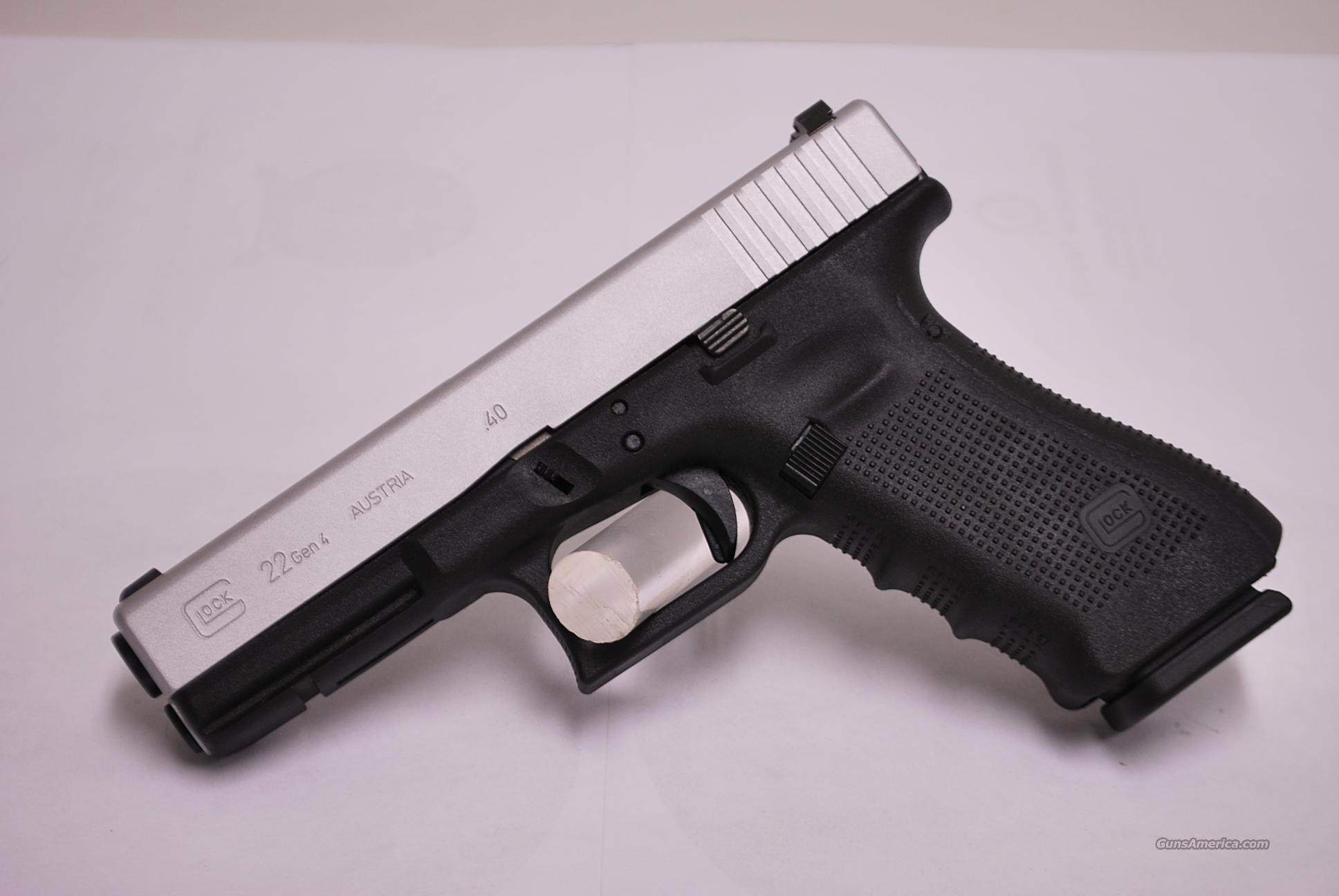 Glock 22 Gen 4, .40, Stainless Slide for sale