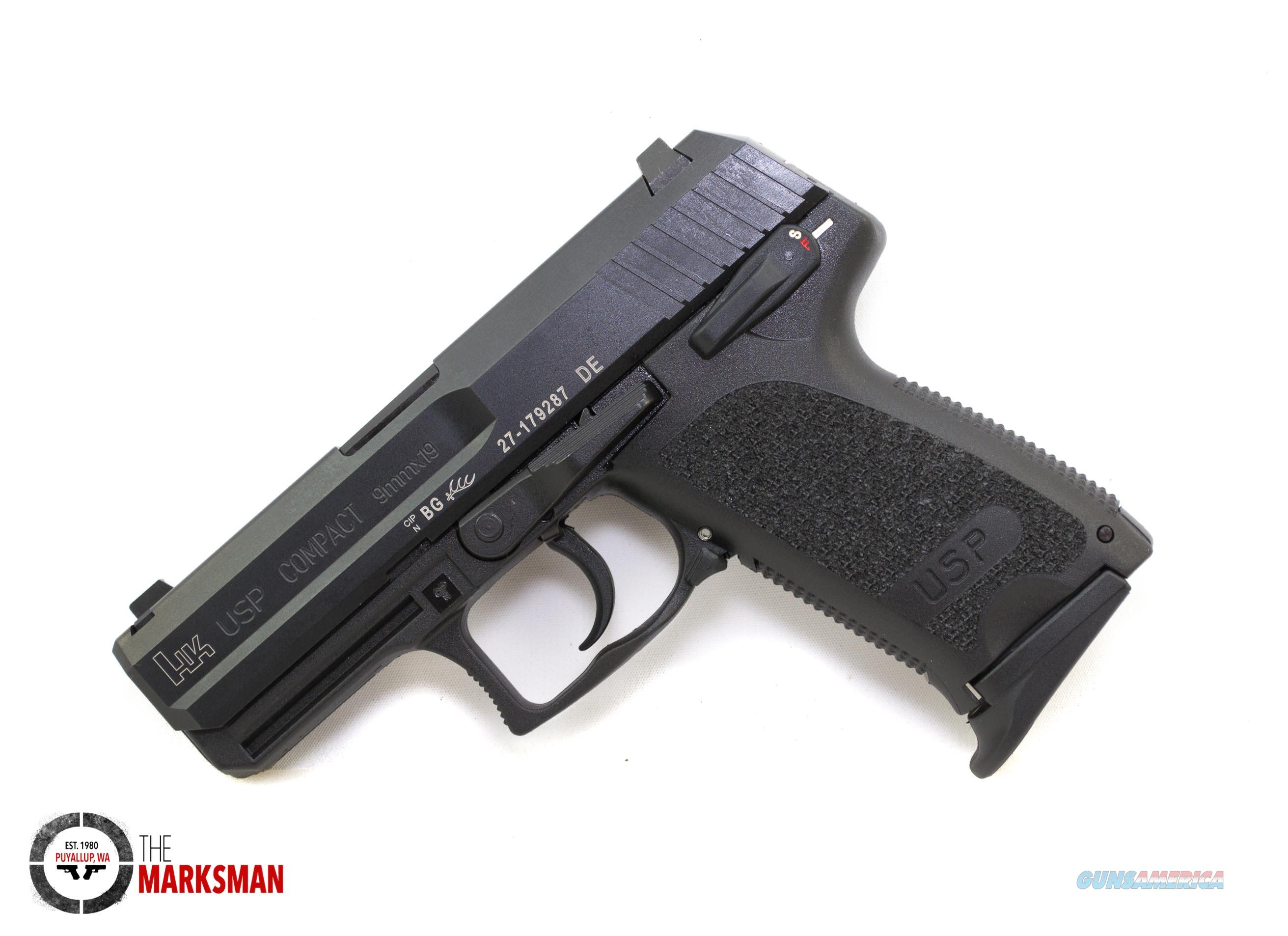 Heckler and Koch USP Compact, 9mm NEW Night Sights, Three Magazines  Guns > Pistols > Heckler & Koch Pistols > Polymer Frame