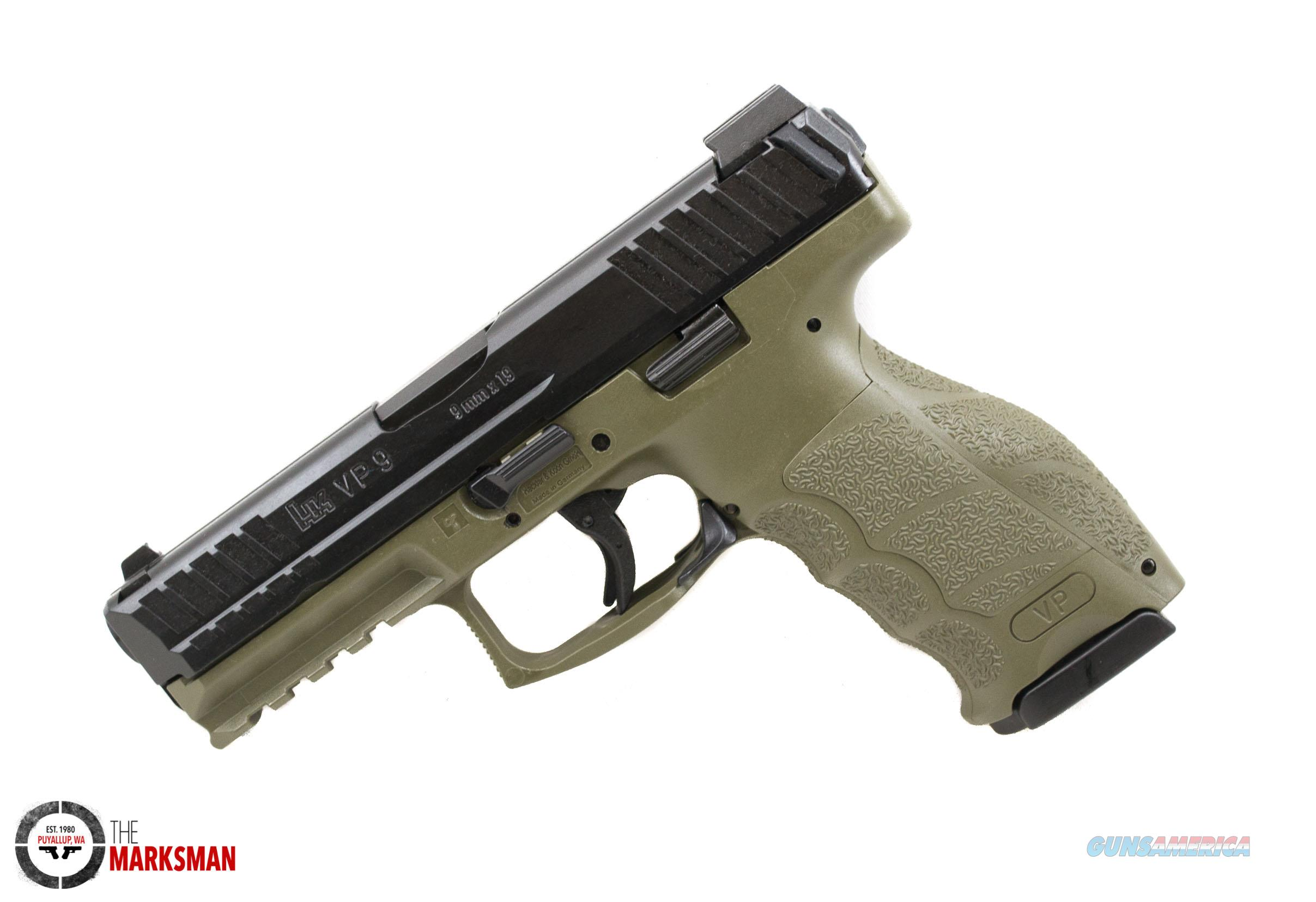Heckler and Koch VP9 OD Green, 9mm, Night Sights   Guns > Pistols > Heckler & Koch Pistols > Polymer Frame