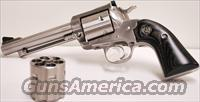Ruger Convertible Blackhawk Stainless Bisley 45 Colt/ 45 ACP  Guns > Pistols > Ruger Single Action Revolvers > Blackhawk Type