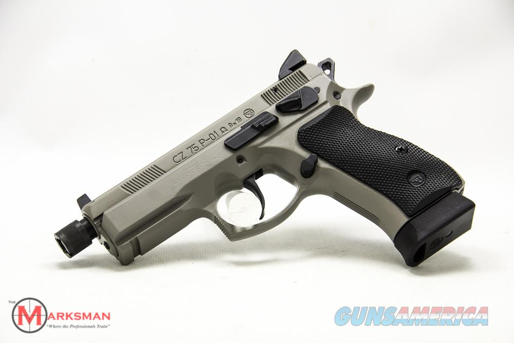 CZ 75 P-01 Omega Suppressor Ready 9mm NEW Urban Grey  Guns > Pistols > CZ Pistols
