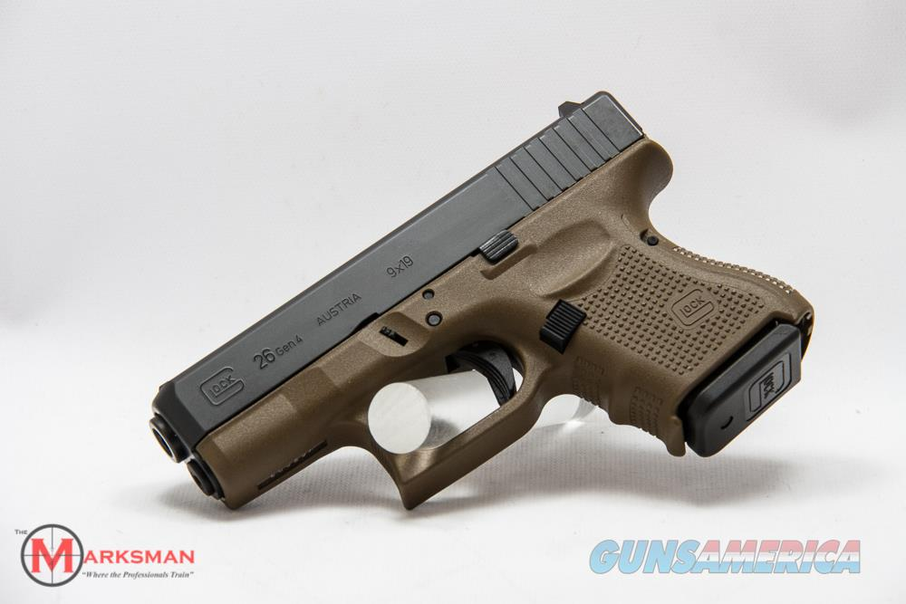 Glock 26 Generation 4, 9mm, Flat Dark Earth   Guns > Pistols > Glock Pistols > 26/27