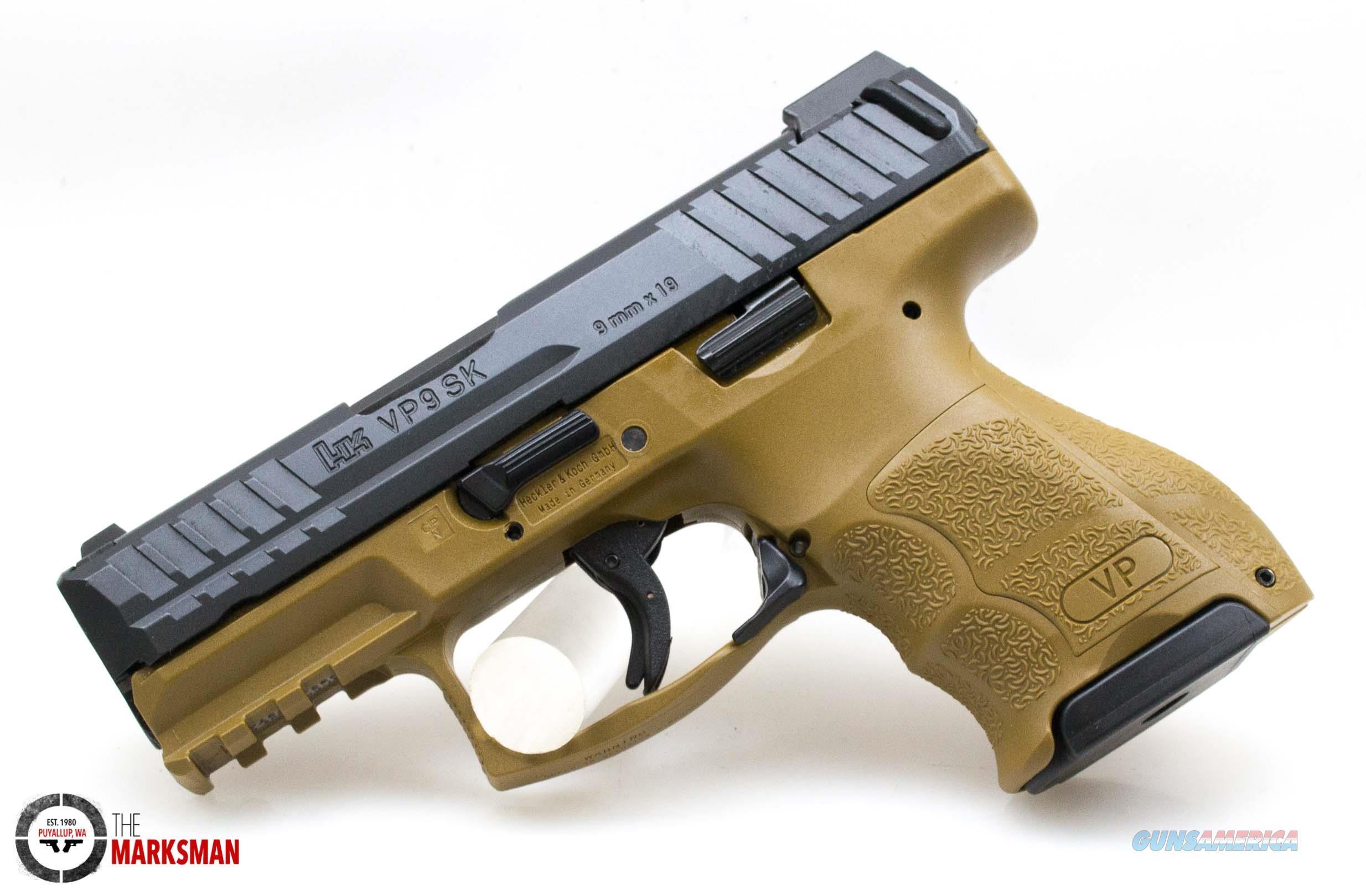 Heckler and Koch VP9SK FDE, 9mm, Night Sights   Guns > Pistols > Heckler & Koch Pistols > Polymer Frame