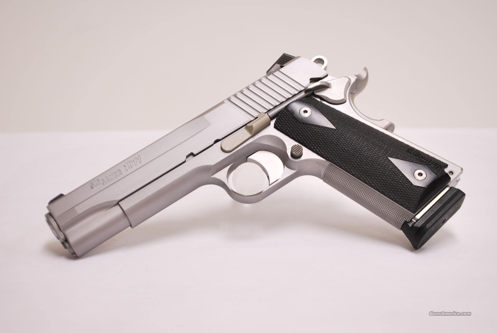 Sig Sauer Stainless 1911, 45 ACP  Guns > Pistols > Sig - Sauer/Sigarms Pistols > 1911