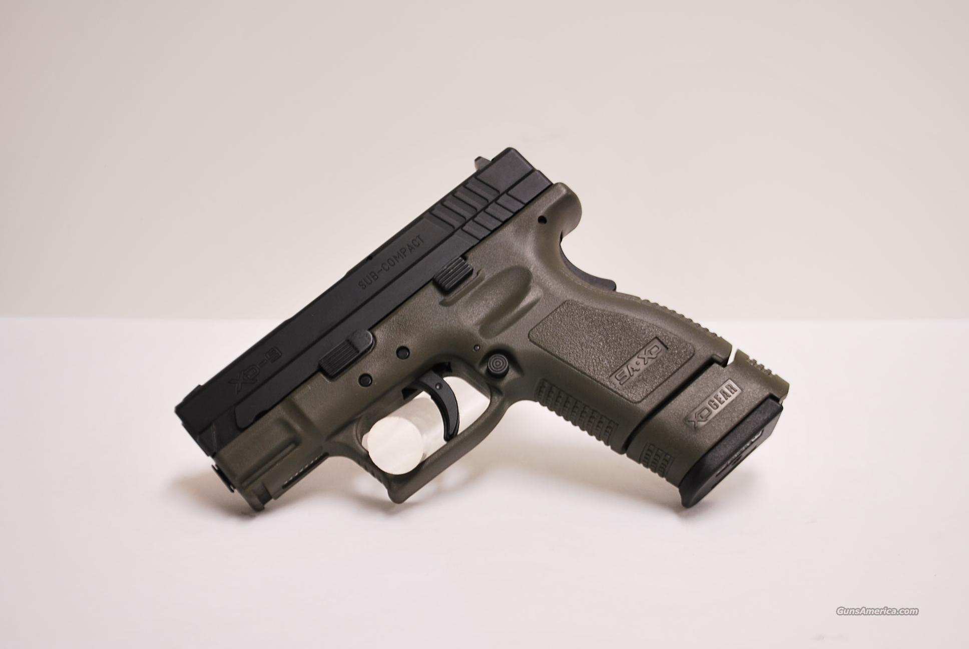 Springfield XD9 Subcompact 9mm, Olive Drab Bitone  Guns > Pistols > Springfield Armory Pistols > XD (eXtreme Duty)