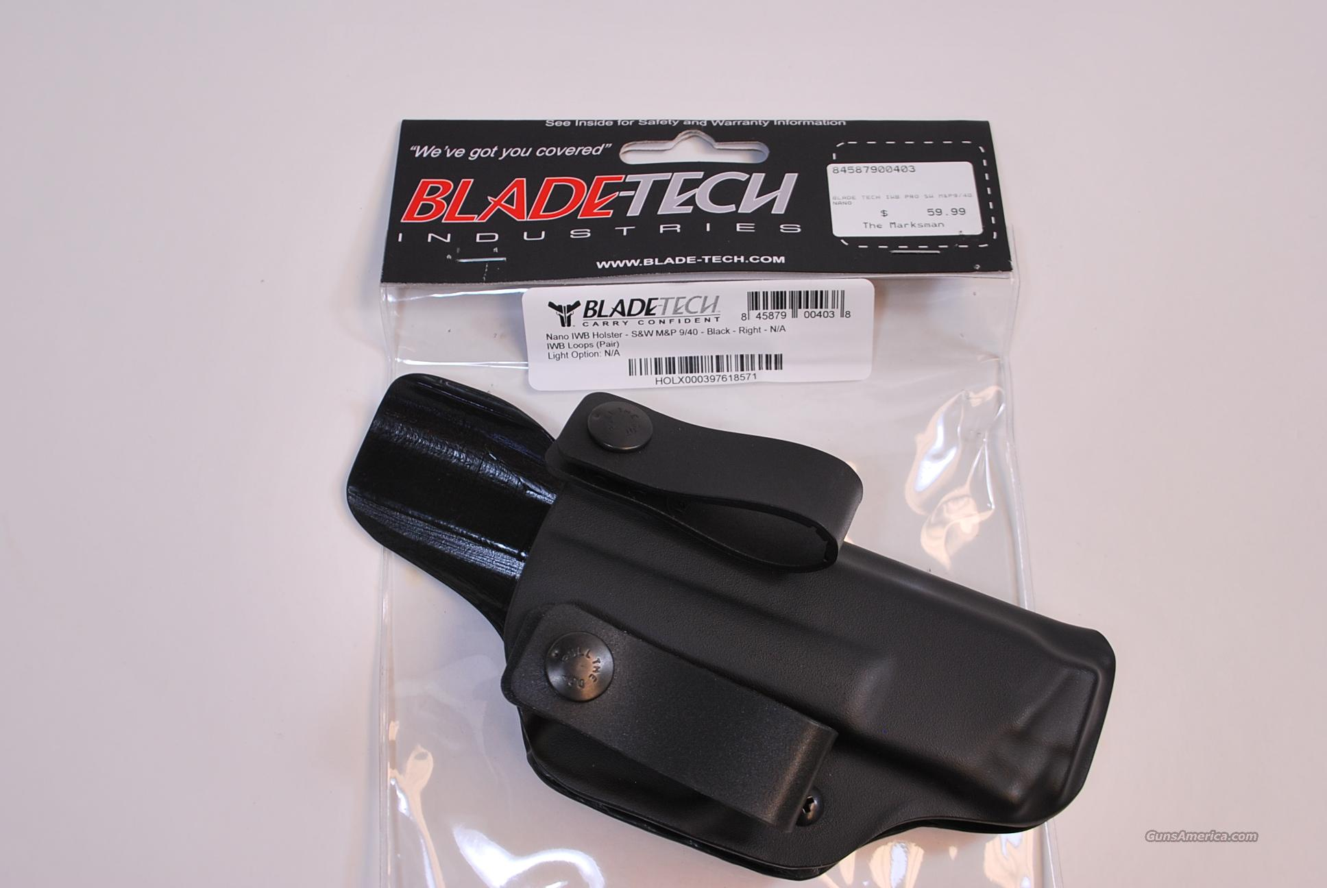 Blade Tech Inside the Waist Band Holster S&W M&P 9 40 NEW  Non-Guns > Holsters and Gunleather > Concealed Carry