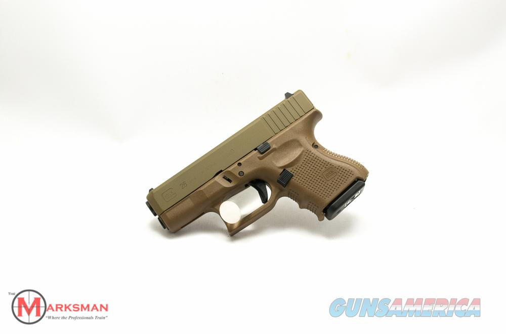 Glock 26 Generation 4, 9mm NEW Flat Dark Earth  Guns > Pistols > Glock Pistols > 26/27