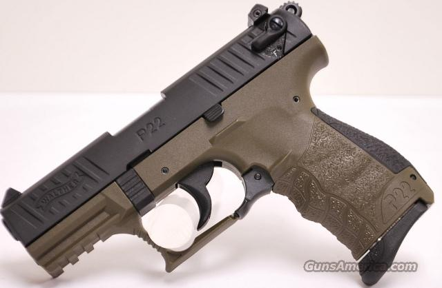 Walther P22, .22 LR in Military Green   Guns > Pistols > Walther Pistols > Post WWII > P22