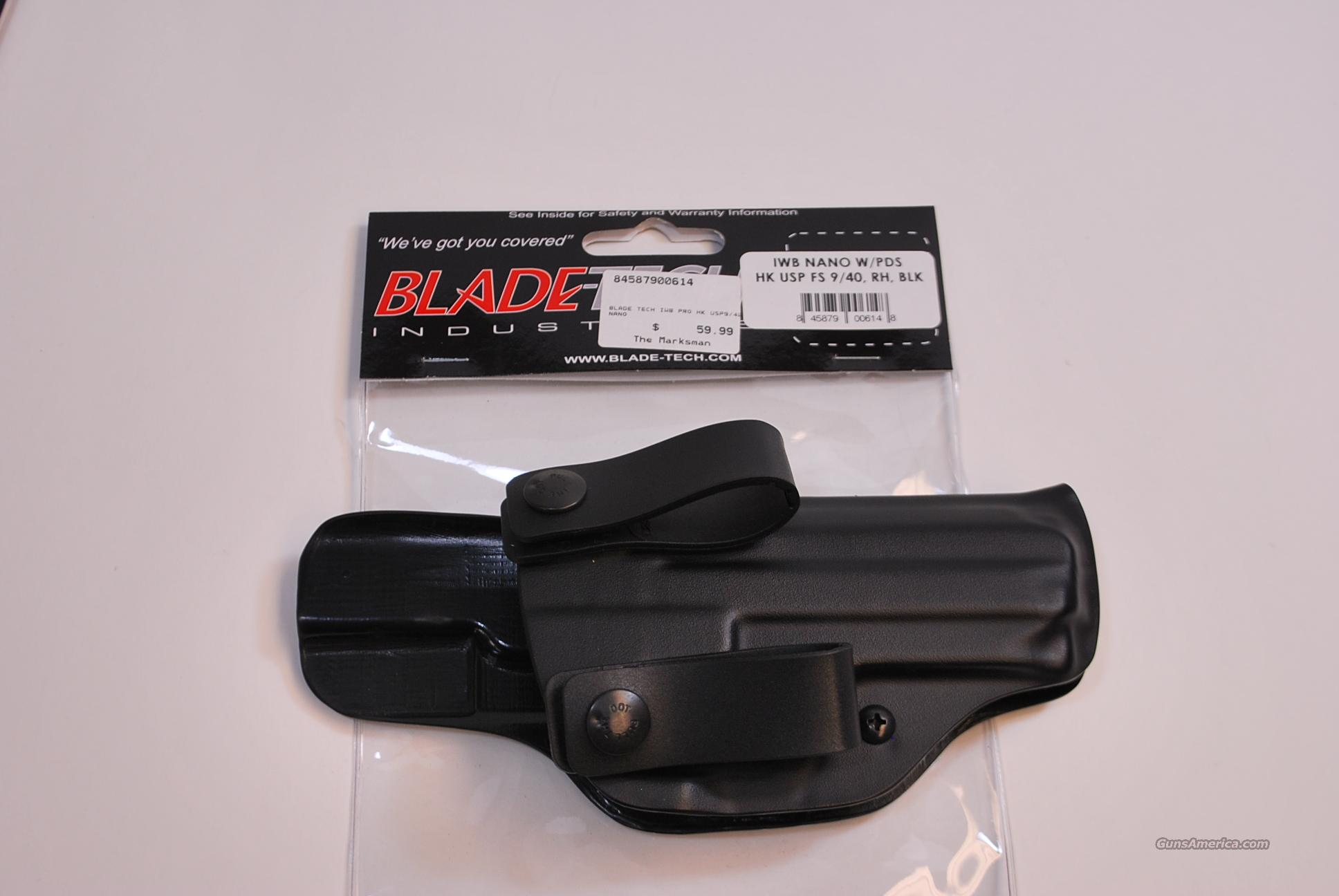 Blade Tech Inside the Waist Holster HK USP 9 40 NEW  Non-Guns > Holsters and Gunleather > Concealed Carry