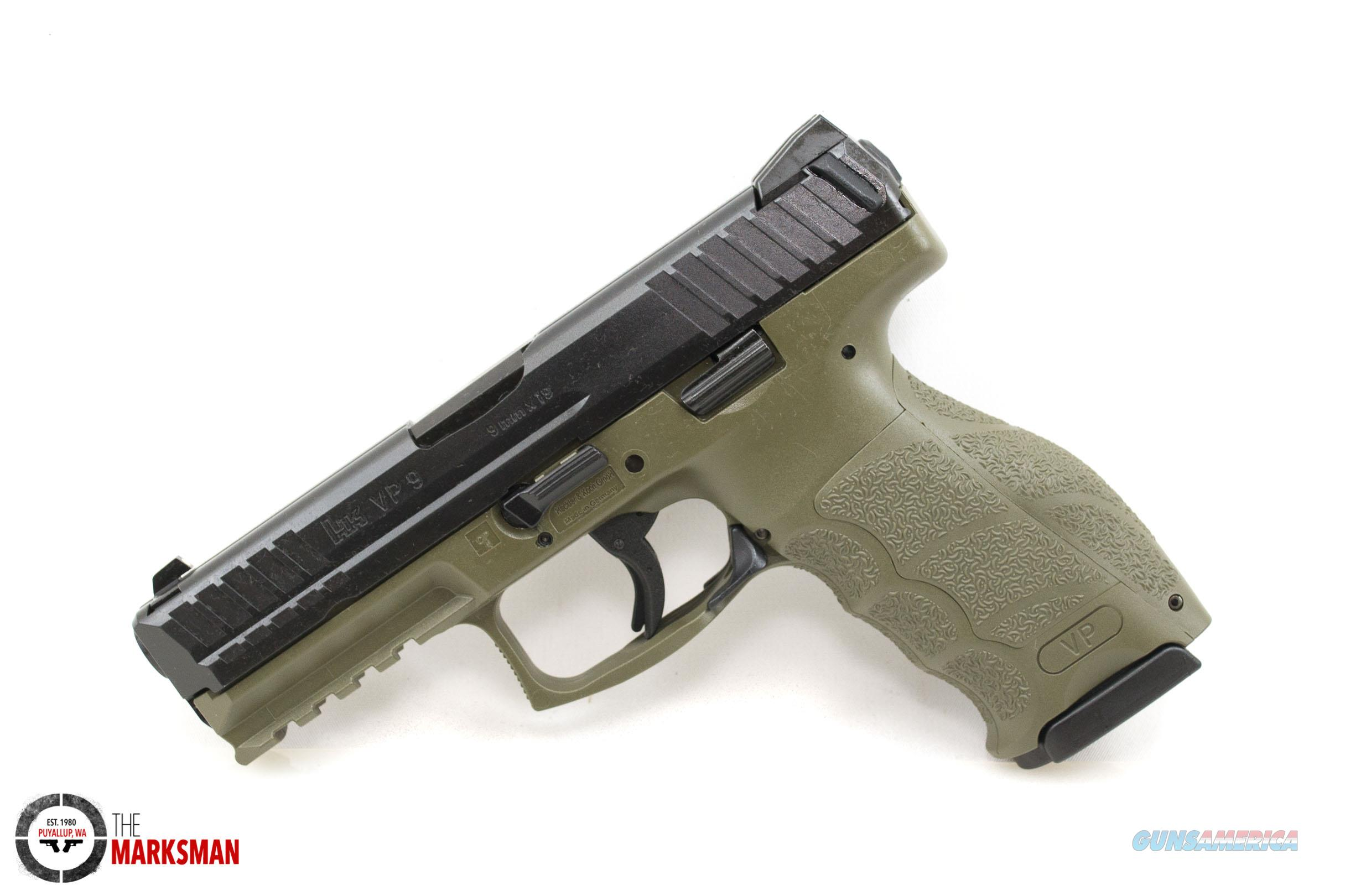Heckler and Koch VP9 OD Green, 9mm  Guns > Pistols > Heckler & Koch Pistols > Polymer Frame