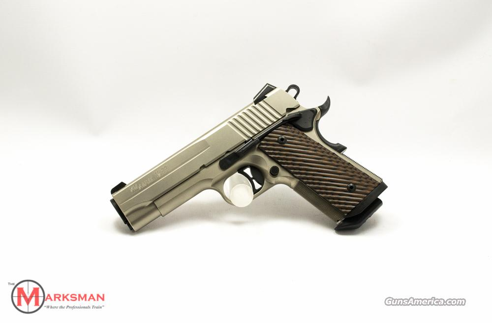 Sig Sauer 1911 Compact Nickel .45 ACP NEW Free Shipping  Guns > Pistols > Sig - Sauer/Sigarms Pistols > 1911