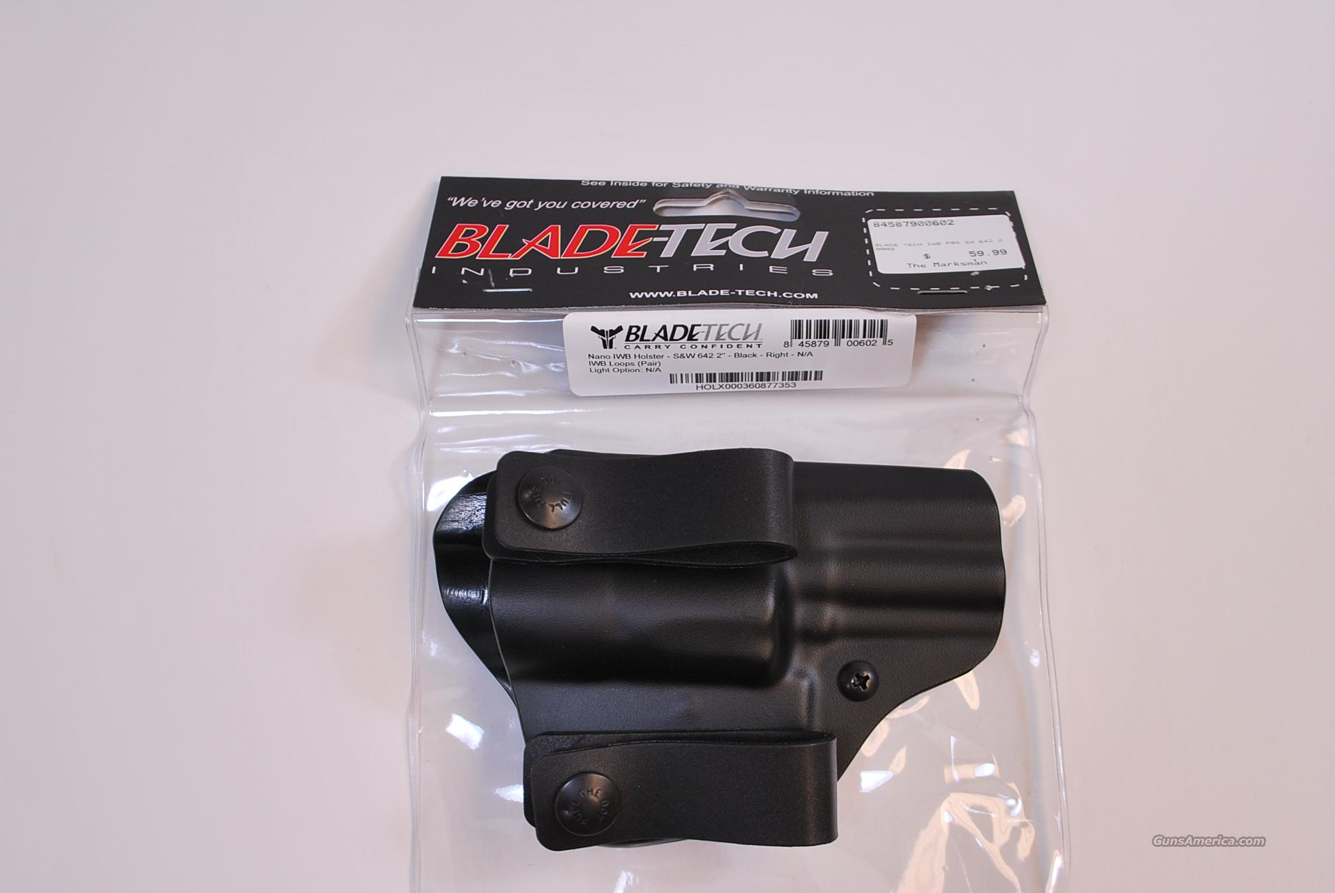 Blade Tech Inside the Waist Band Holster S&W 642 NEW  Non-Guns > Holsters and Gunleather > Concealed Carry