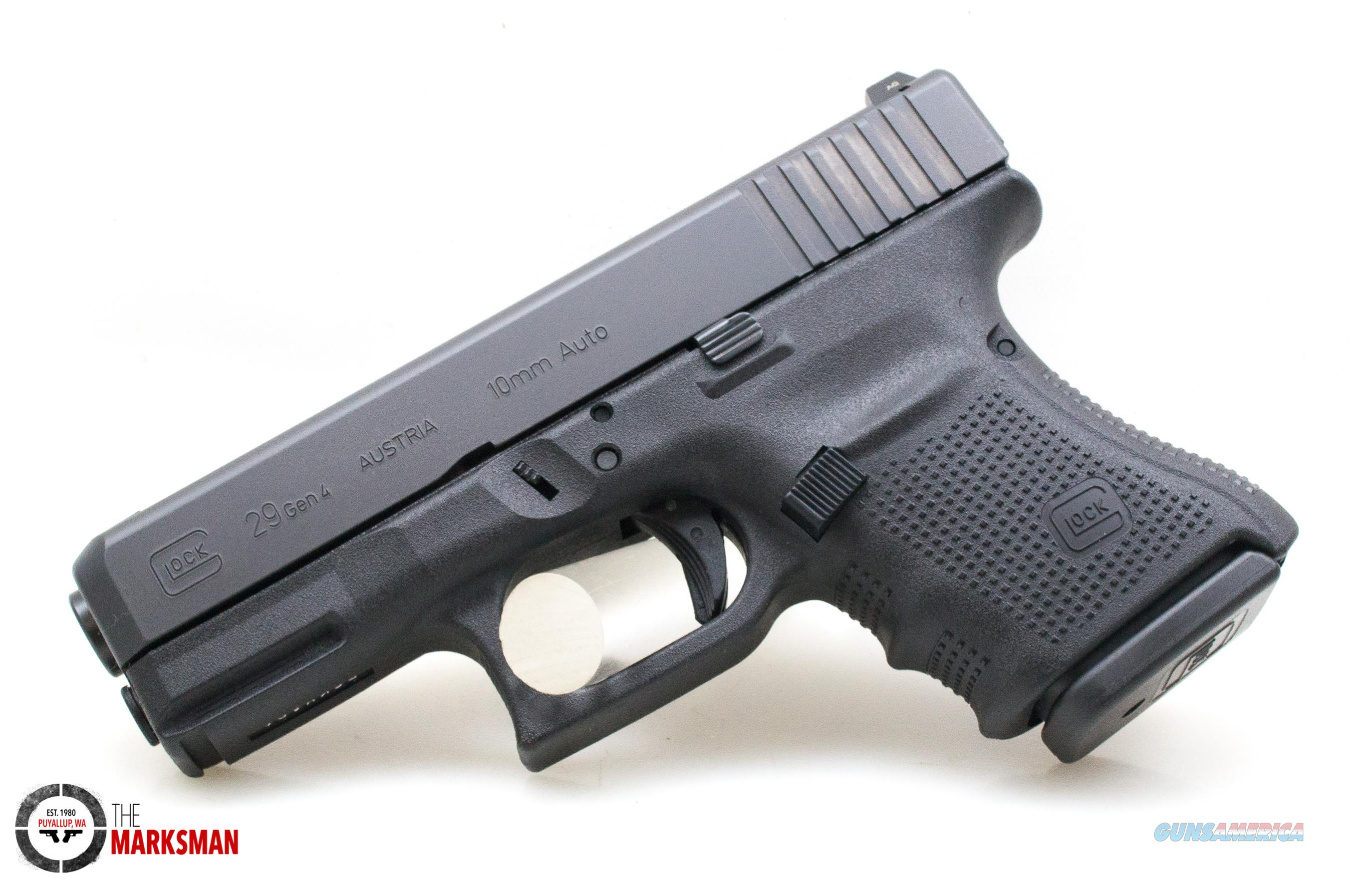 Glock 29 Generation 4, 10mm, NS, Austria Made Model   Guns > Pistols > Glock Pistols > 29/30/36
