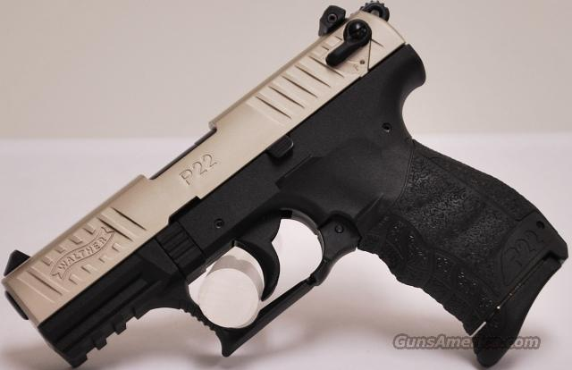 Walther P22, Nickel Finish, .22 LR  Guns > Pistols > Walther Pistols > Post WWII > P22