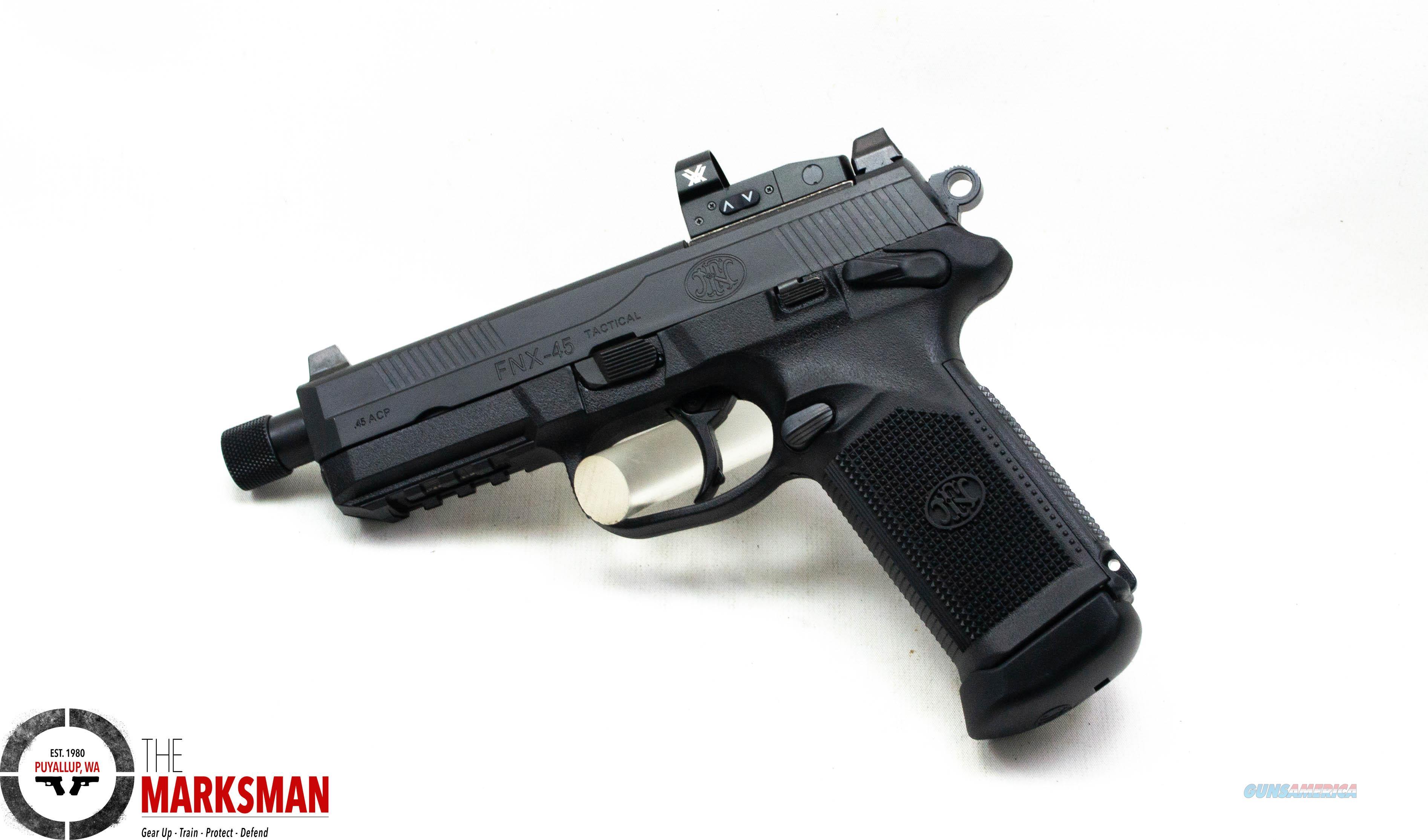 FN FNX-45 Tactical, .45 ACP, Vortex Venom Red Dot Optic NEW  Guns > Pistols > FNH - Fabrique Nationale (FN) Pistols > FNX