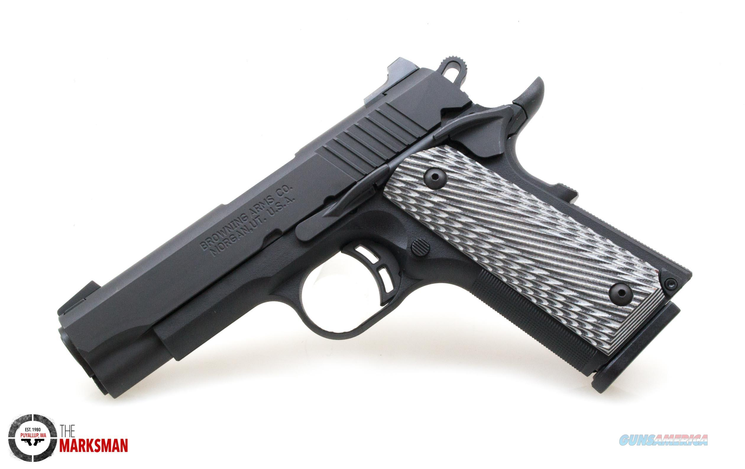 Browning 1911-380 Black Label Pro Compact .380 ACP NEW Night Sights  Guns > Pistols > Browning Pistols > Other Autos
