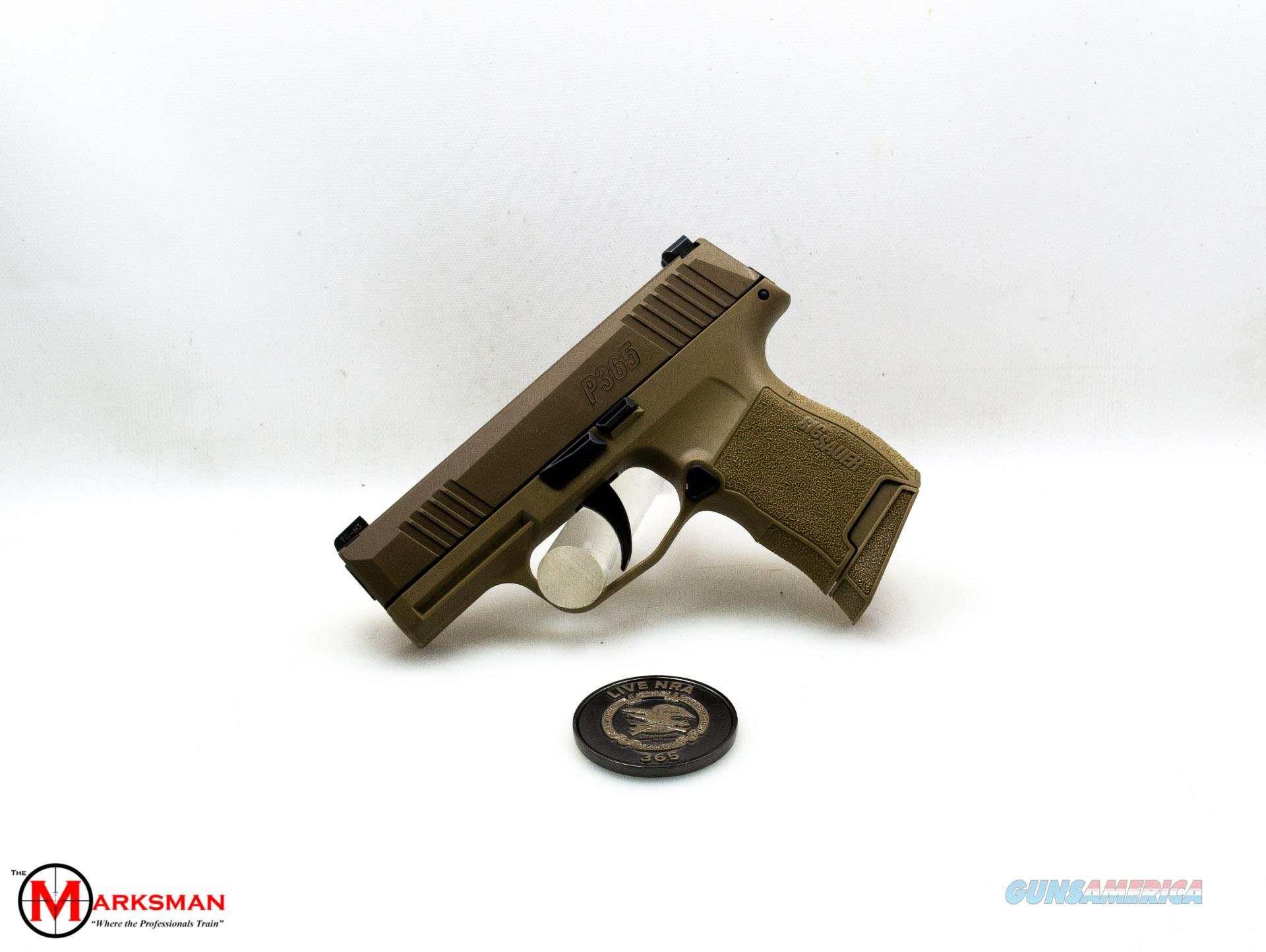 Sig Sauer P365 NRA, 9mm, Flat Dark Earth, Lipsey's Exclusive NEW  Guns > Pistols > Sig - Sauer/Sigarms Pistols > P365