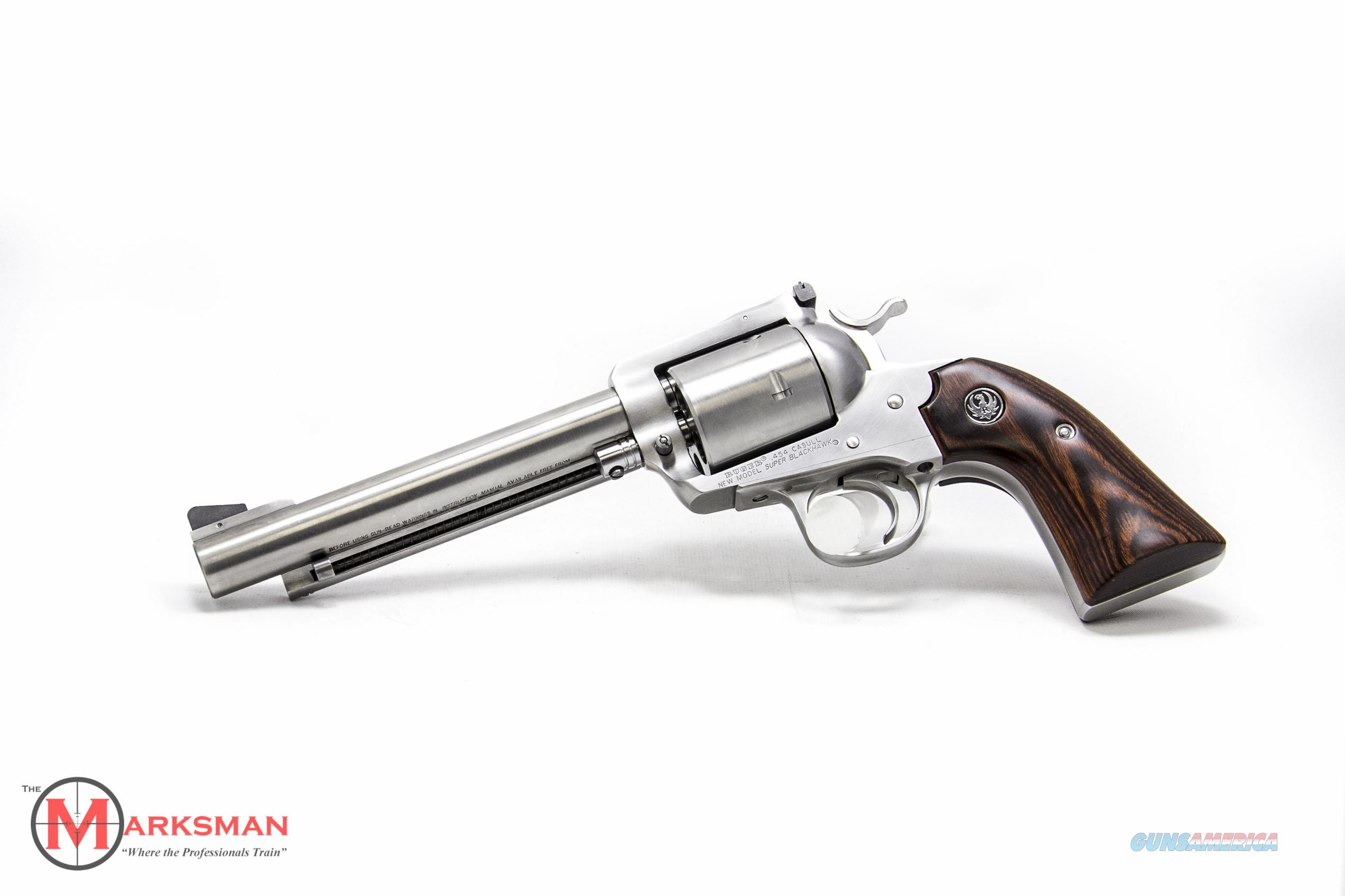 Ruger Stainless Bisley Super Blackhawk, .454 Casull NEW Lipsey's Exclusive  Guns > Pistols > Ruger Single Action Revolvers > Blackhawk Type