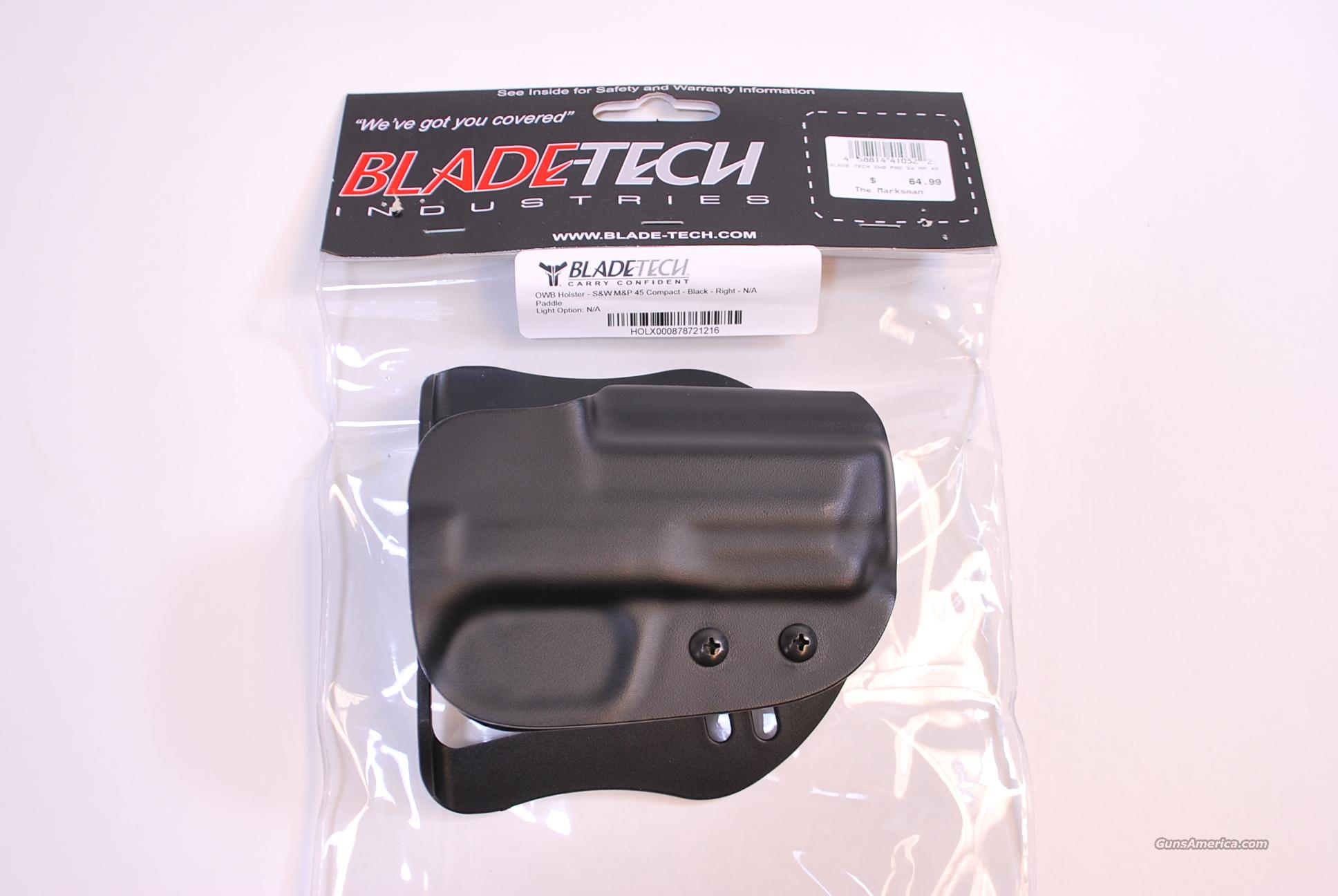 Blade Tech Paddle Holster S&W M&P 45 Compact NEW  Non-Guns > Holsters and Gunleather > Concealed Carry