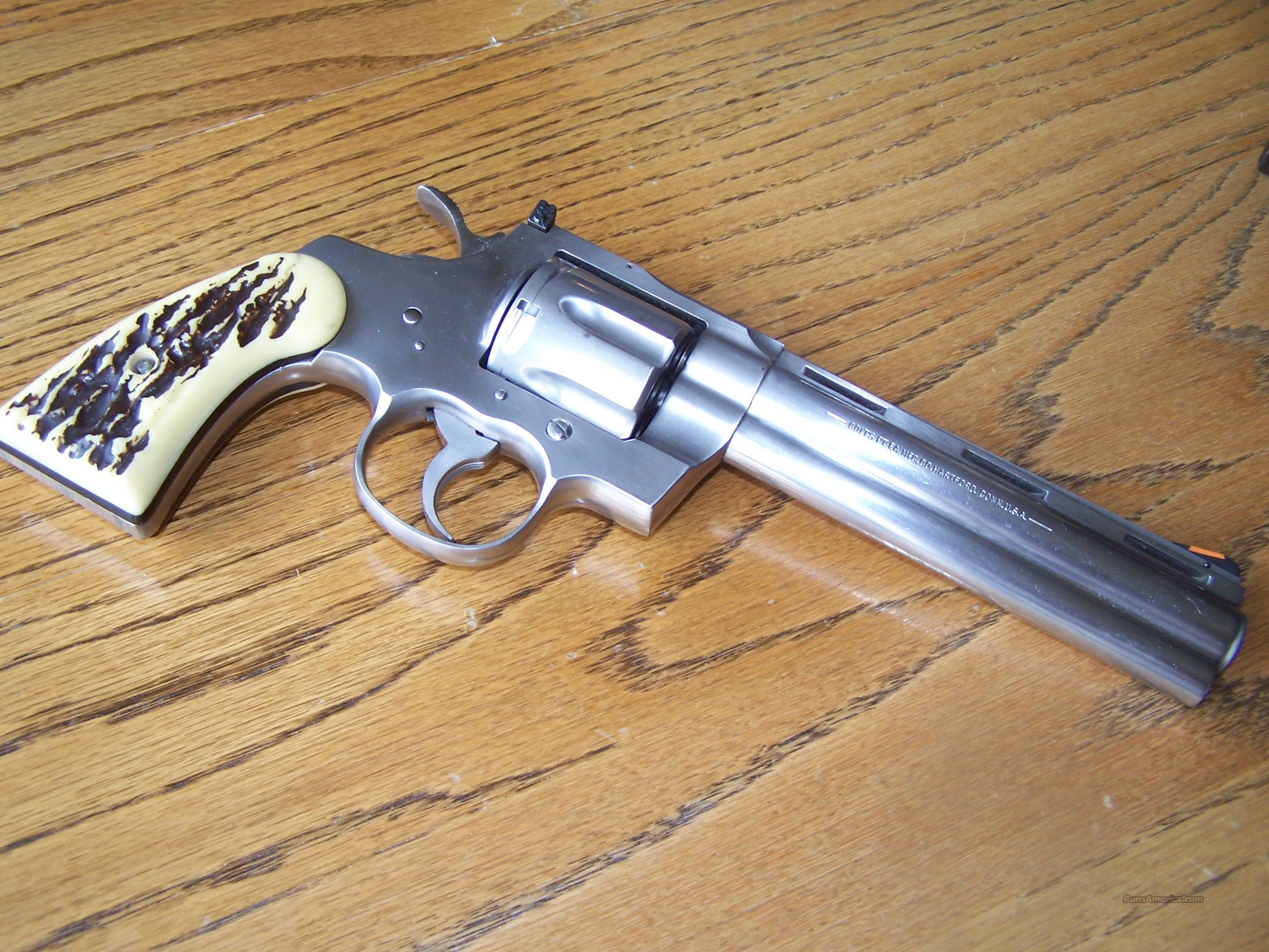 "Python 6""Stainless  Guns > Pistols > Colt Double Action Revolvers- Modern"