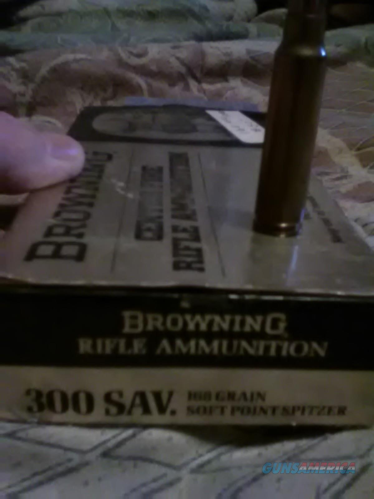 Very rare Browning 300 Savage 168gr. SP Spitzer very rare  Non-Guns > Ammunition