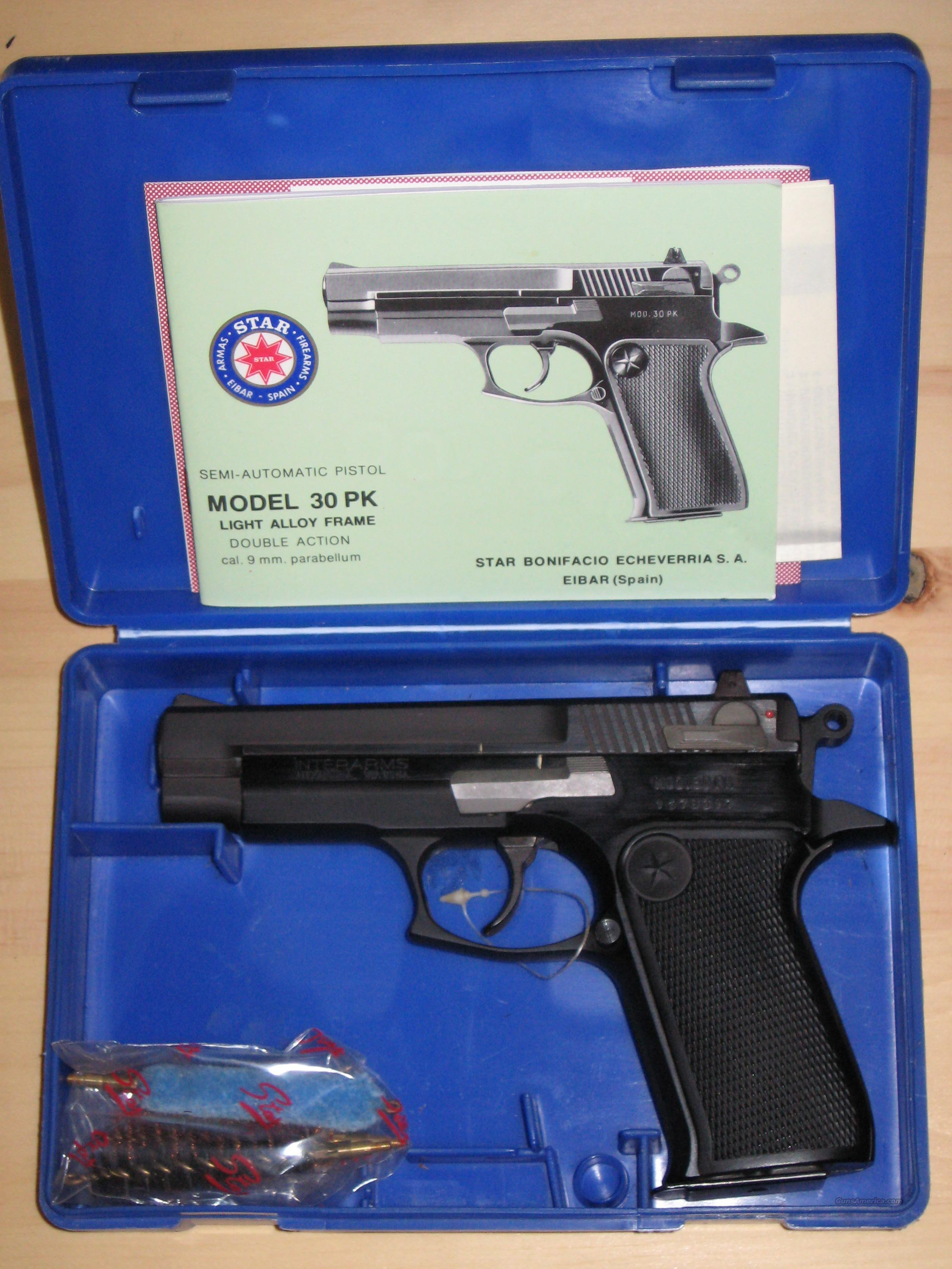 Star mod. 30 PK 9mm (NEW IN  THE BOX)  Guns > Pistols > Star Pistols
